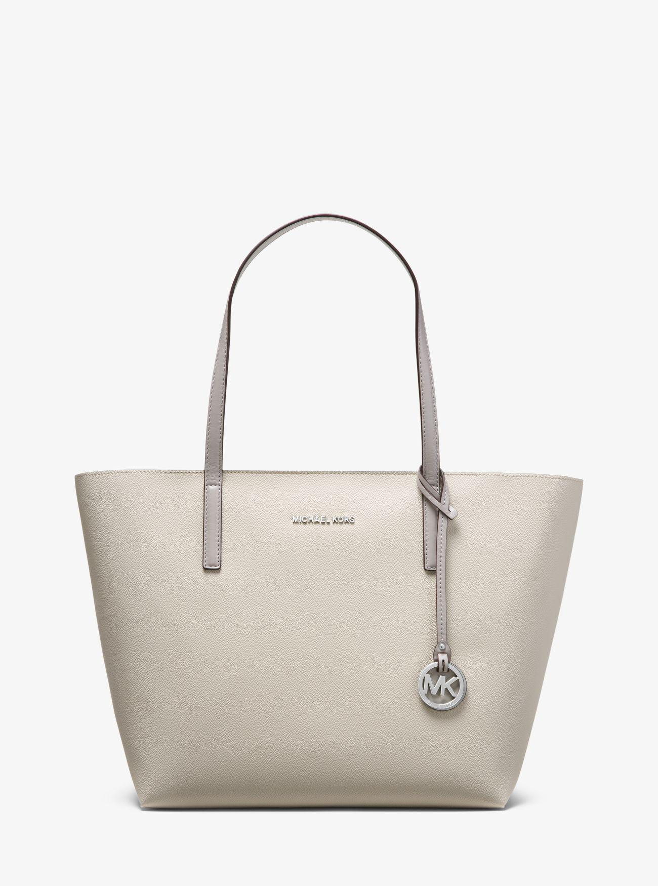 0fb8c990bf79 Michael Kors Hayley Coated Canvas Tote in Gray - Lyst