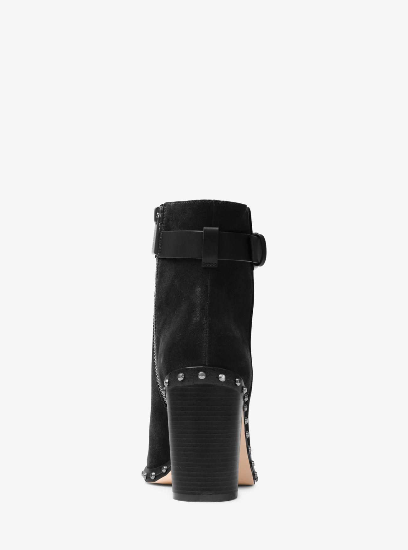 Michael Kors Livvy Suede Ankle Boot