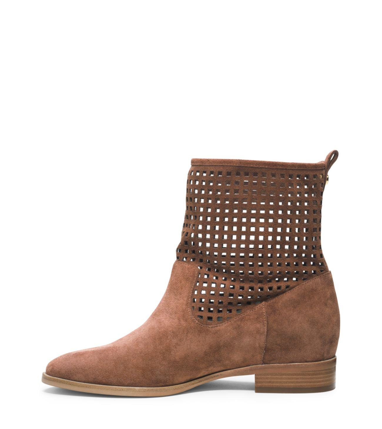 Michael Kors Graham Suede Ankle Boot in Brown