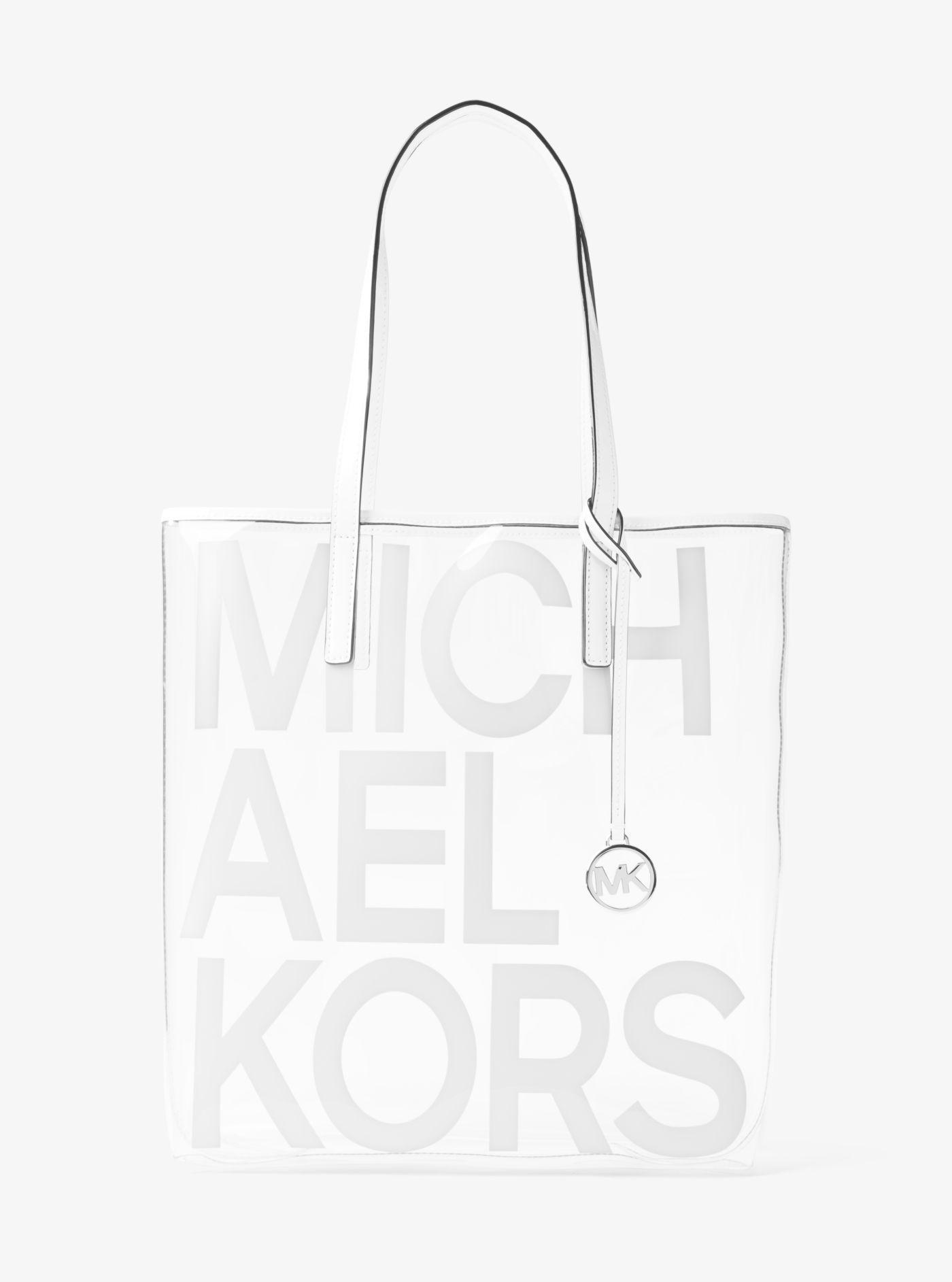 Grand sac à main Michael transparent à imprimé logo graphique