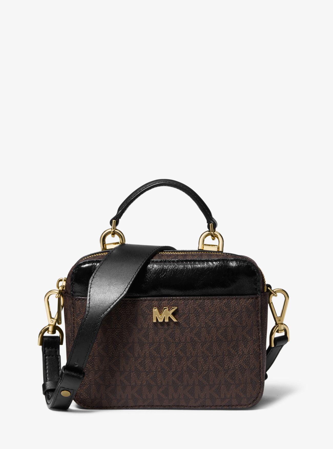 d96d4e410275 MICHAEL Michael Kors. Women s Brown Mott Mini Logo And Leather Crossbody