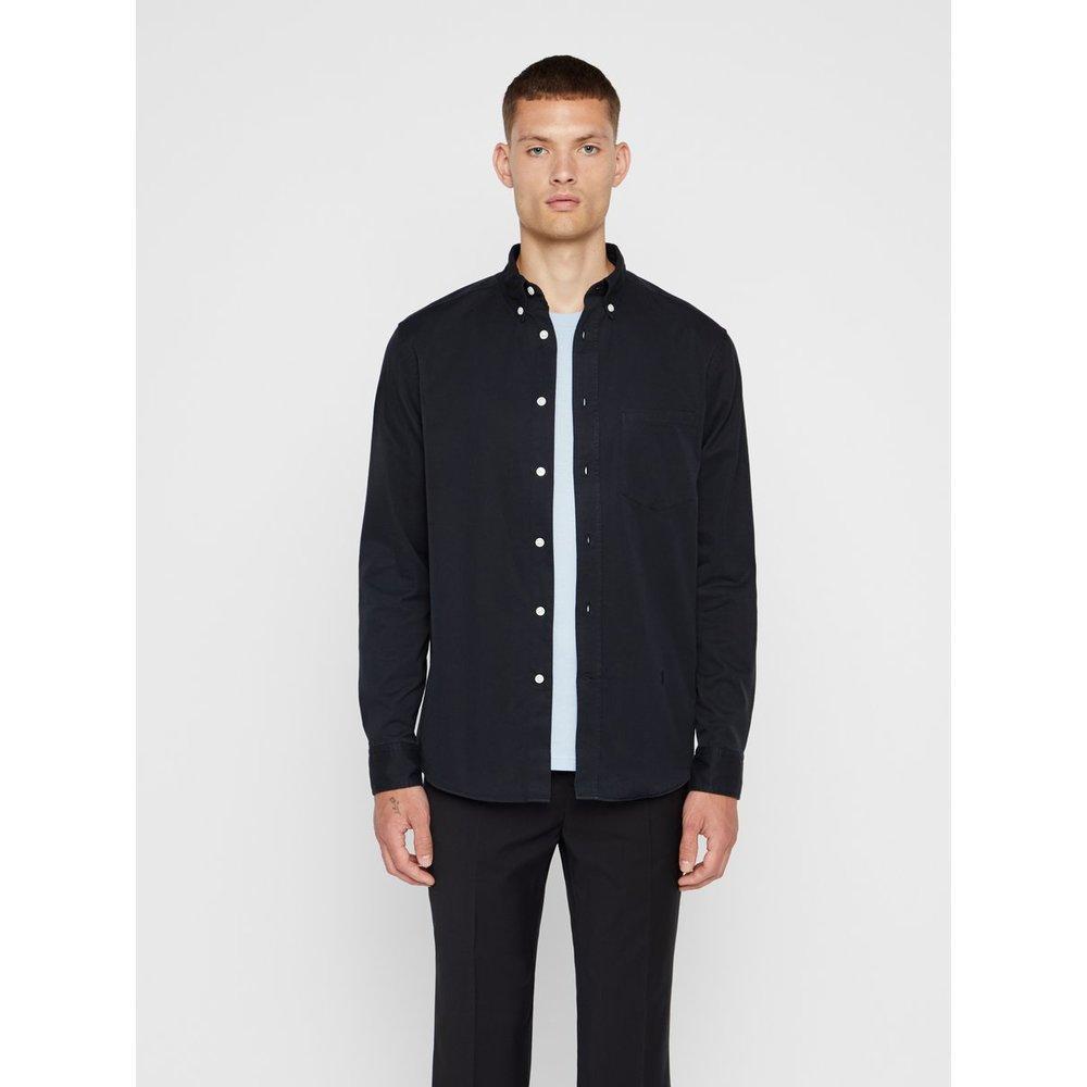 J.Lindeberg David Indigo Overhemd in het Zwart voor heren