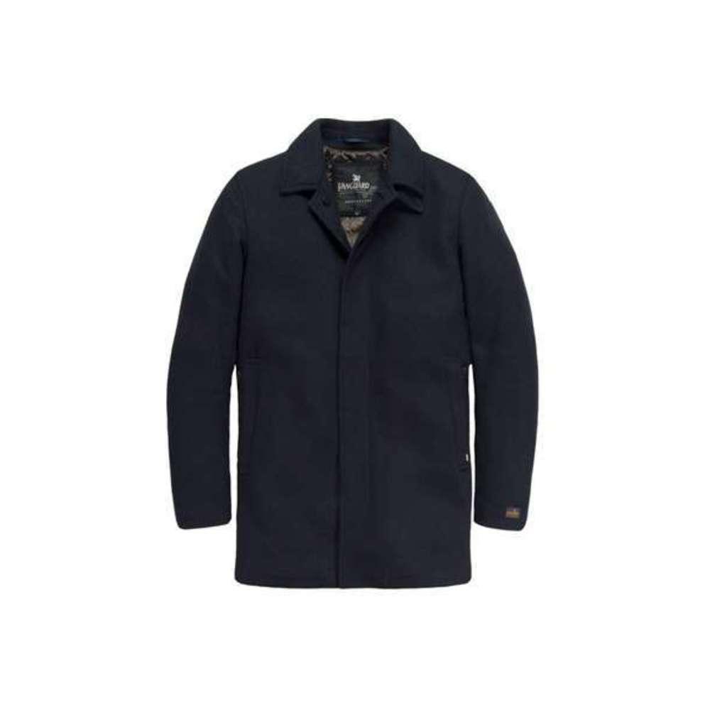 Vanguard Wol Donkerblauwe Heren Jas Trench - Vja176311 in het Zwart voor heren