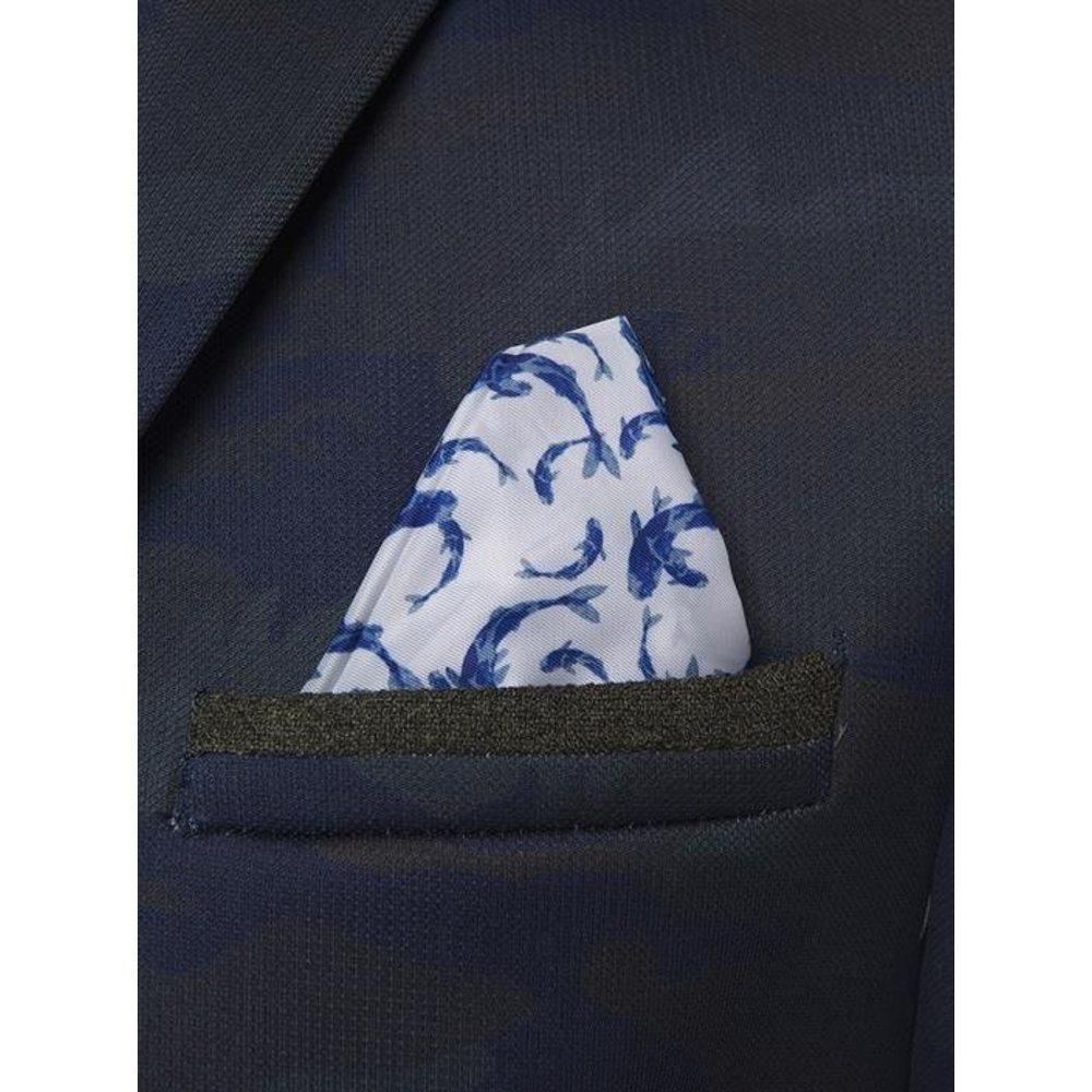 A fish named fred Denim Blazer Scuba Camouflage in het Blauw voor heren