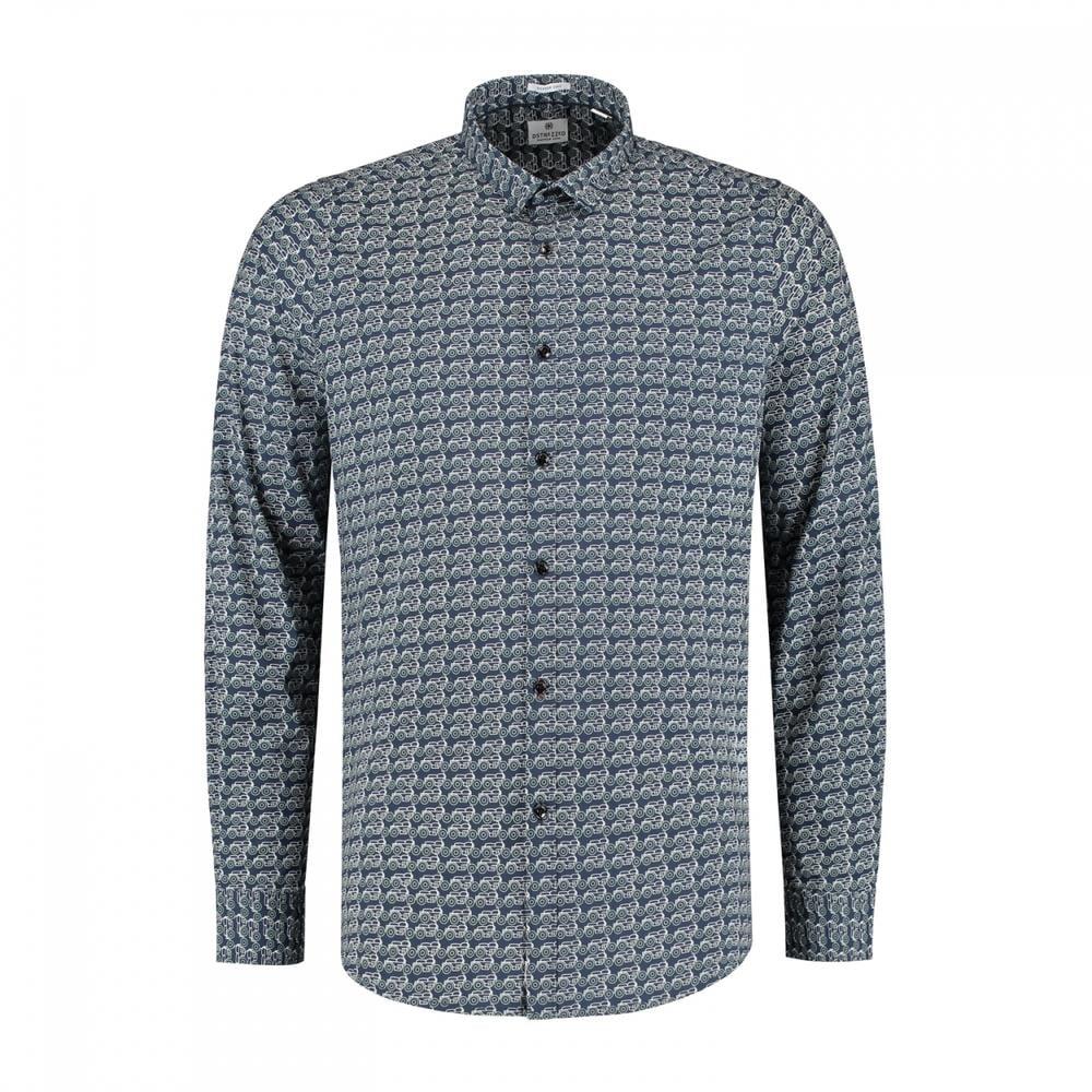 Dstrezzed Stretch Overhemd Met Print in het Blauw voor heren
