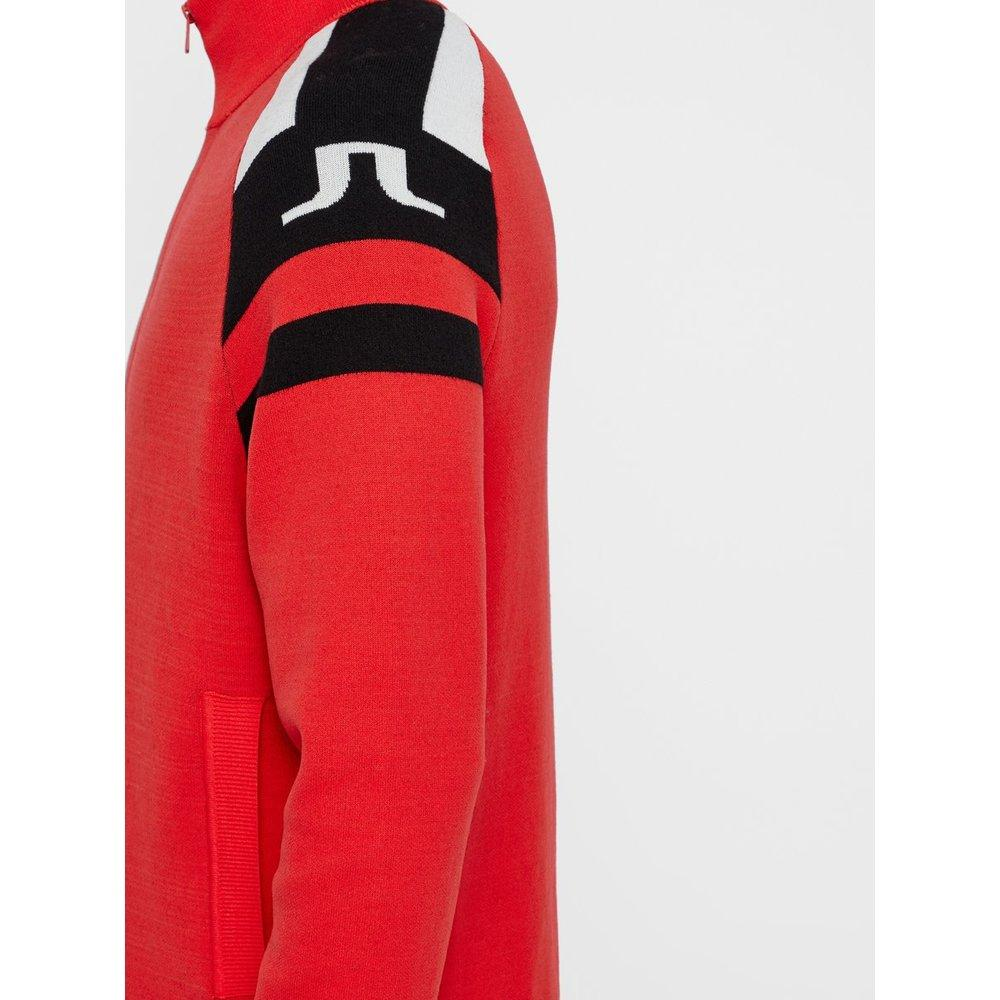 J.Lindeberg Synthetisch Akito Merino Gebreid Vest in het Rood voor heren