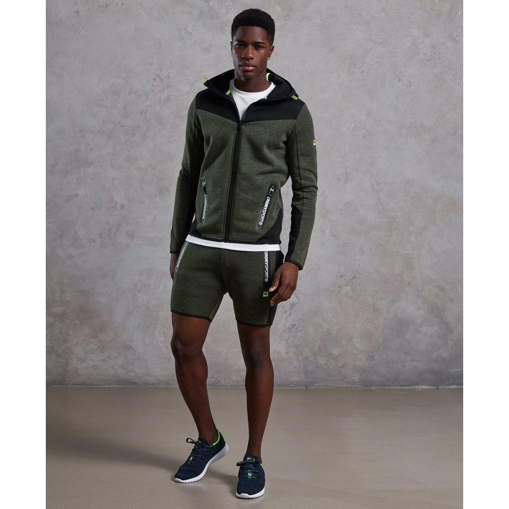 Superdry Synthetisch Gym Tech Blocked Ziphood in het Groen voor heren