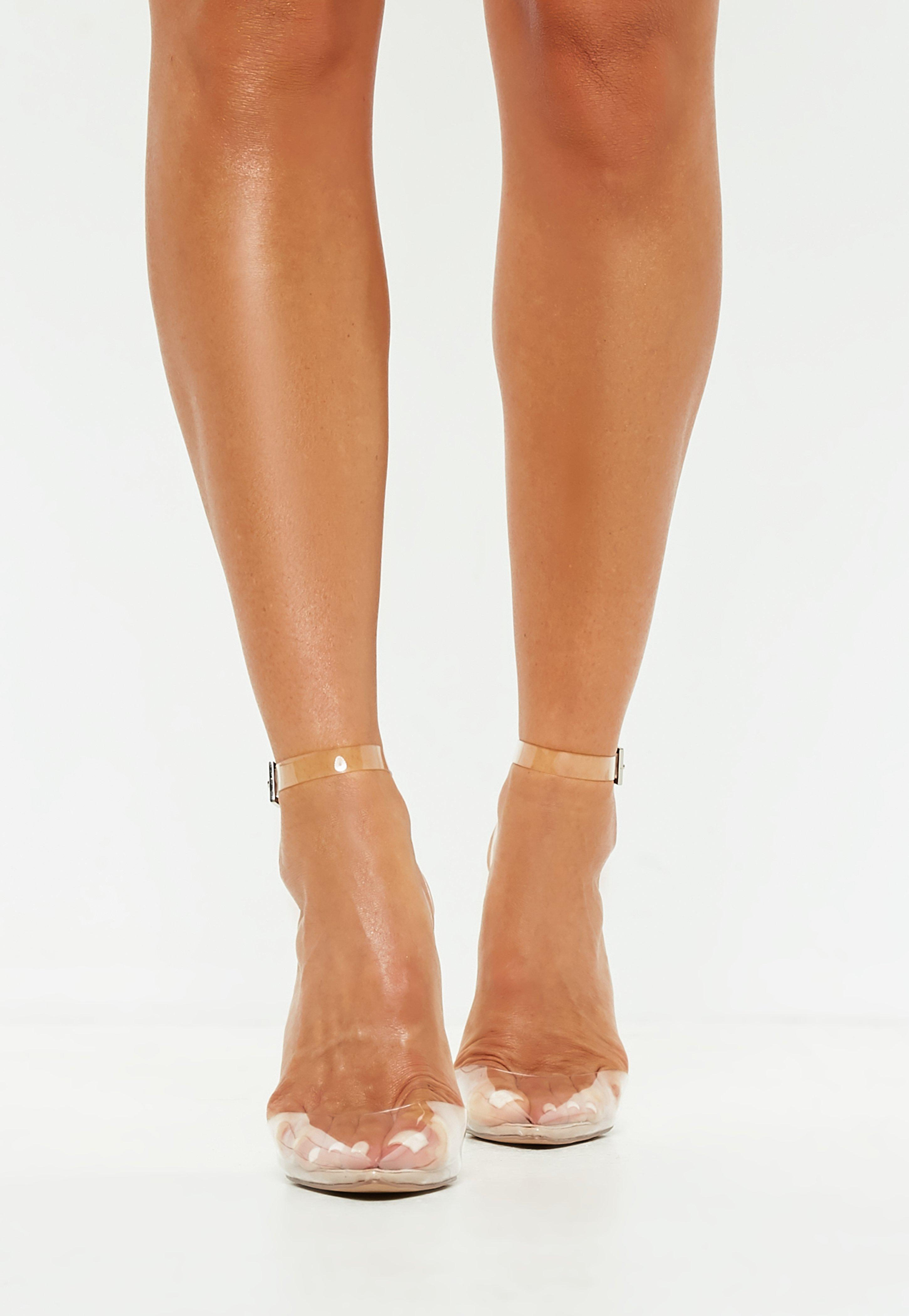 Missguided Stassie X Nude Clear Ankle