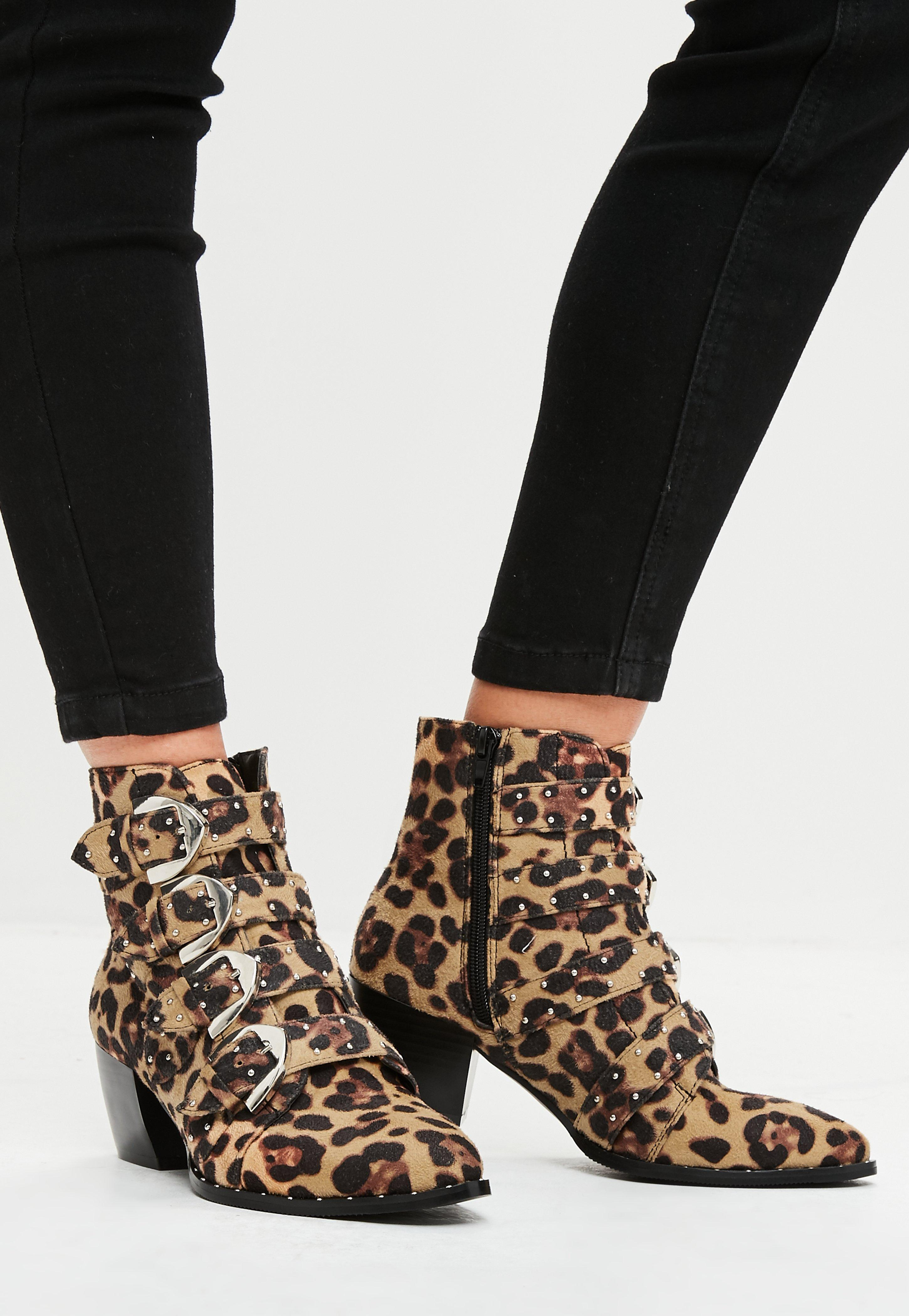 Missguided Brown Leopard Print Studded