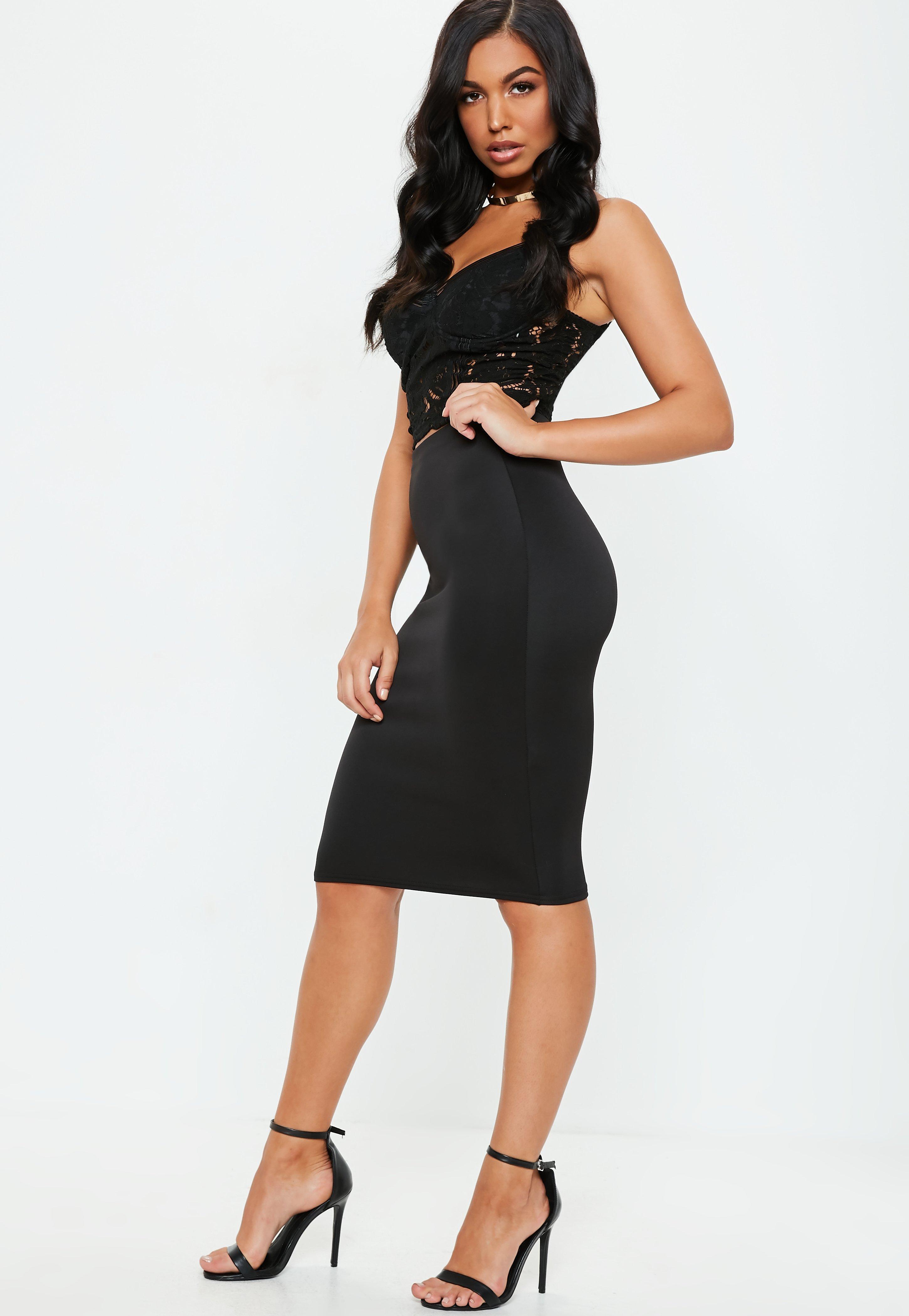 3c842ca2c803e Lyst - Missguided Black Lace Sports Trim Bralette in Black