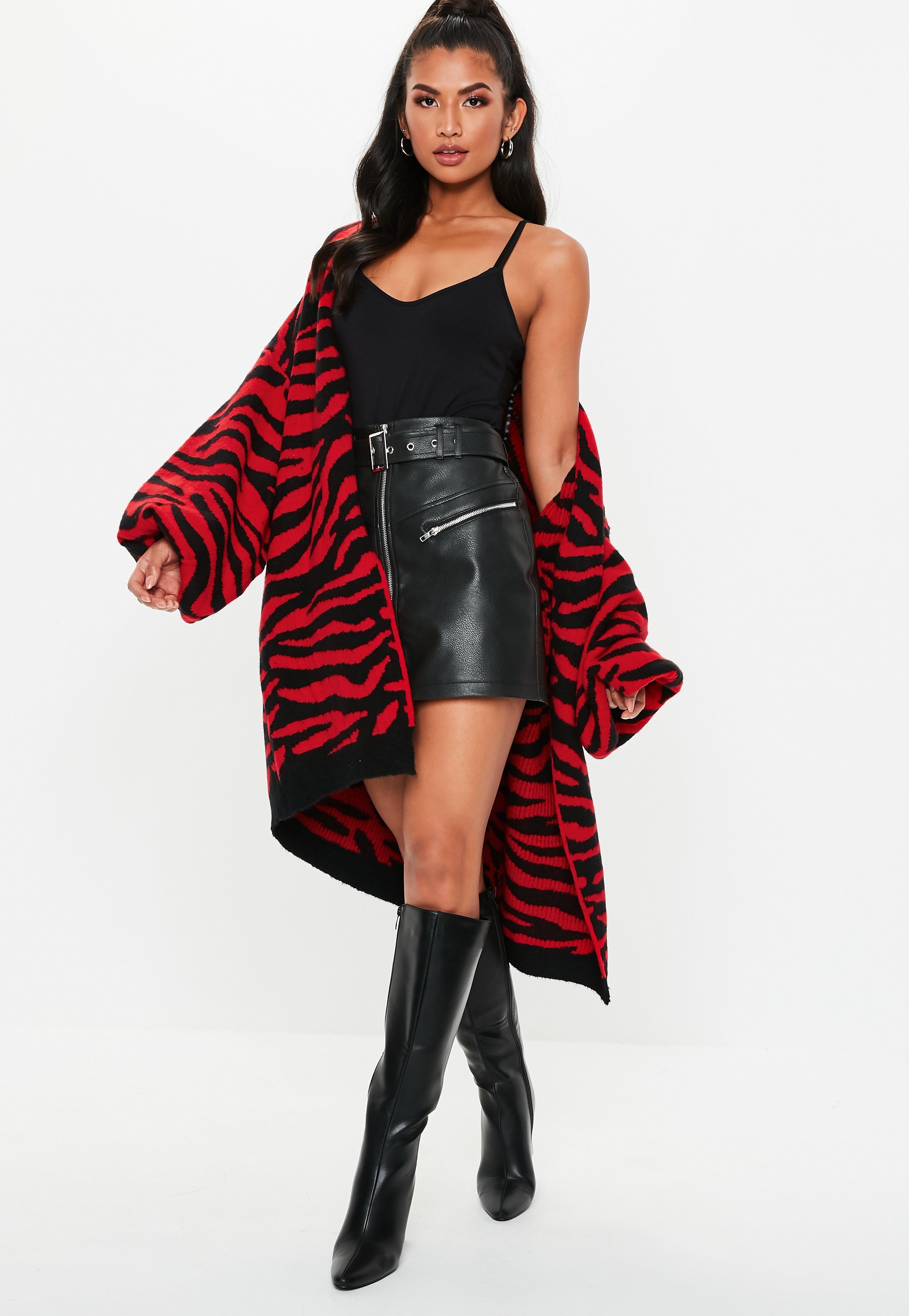 f335622b700fc ... Zebra Print Brushed Knit Balloon Sleeve Cardigan - Lyst. View fullscreen