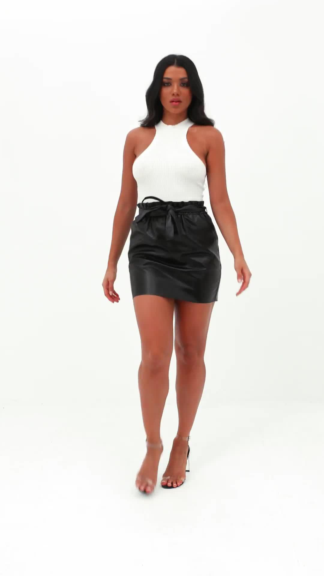 05c77b502b Petite Faux Leather Mini Skirt Black – DACC
