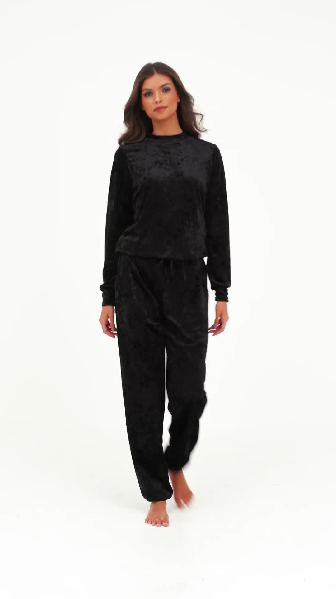 Velvet  velour loose fit cropped tee  T-shirt loungewear