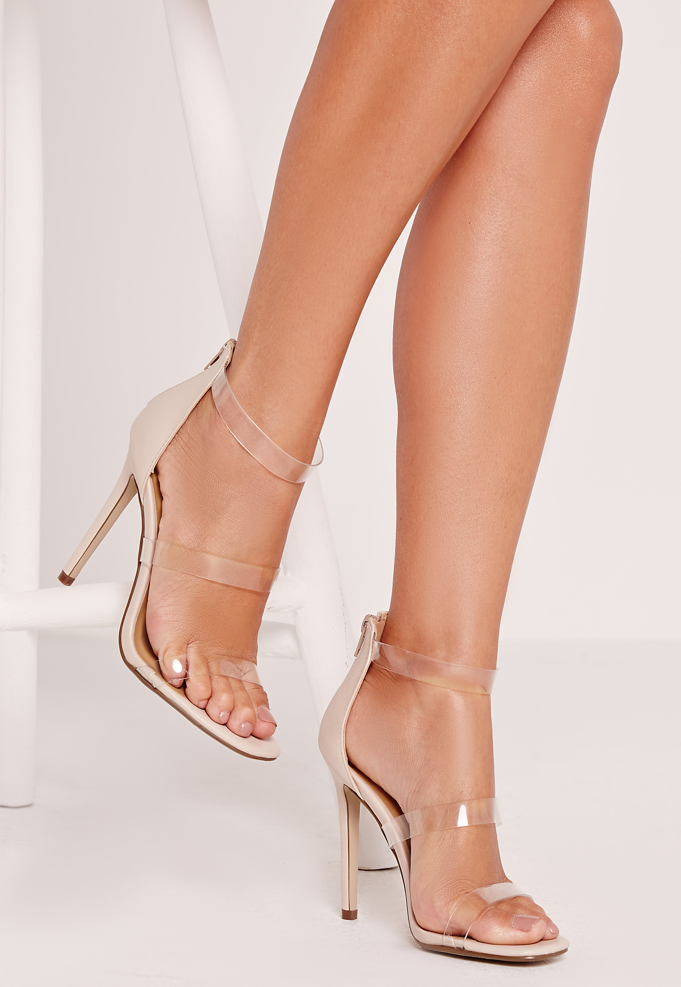 Missguided Perspex 3 Strap Barely There