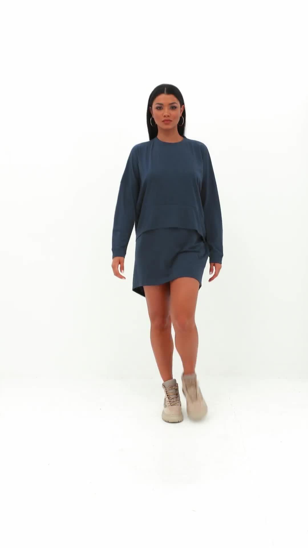 bd3d6f7181b36 ... Navy Oversized Jersey Overlay T Shirt Dress - Lyst. View fullscreen