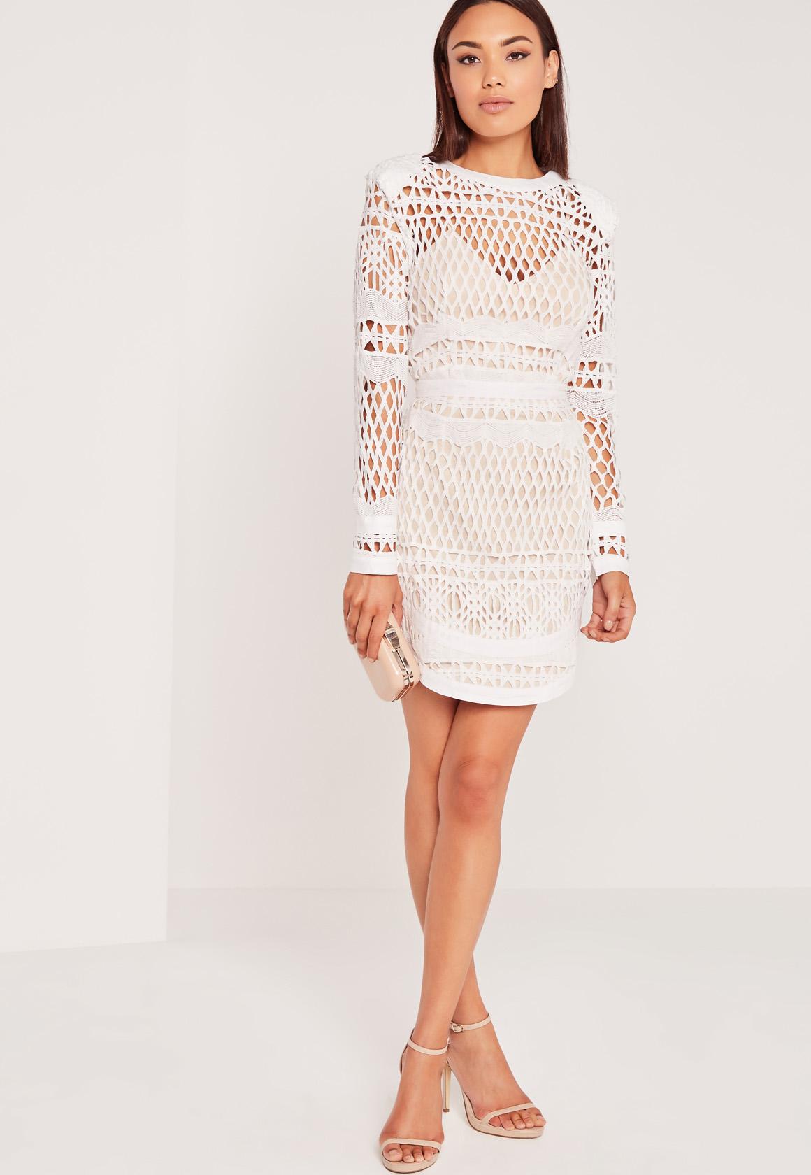 Bodycon dress long sleeve white a line dress next day