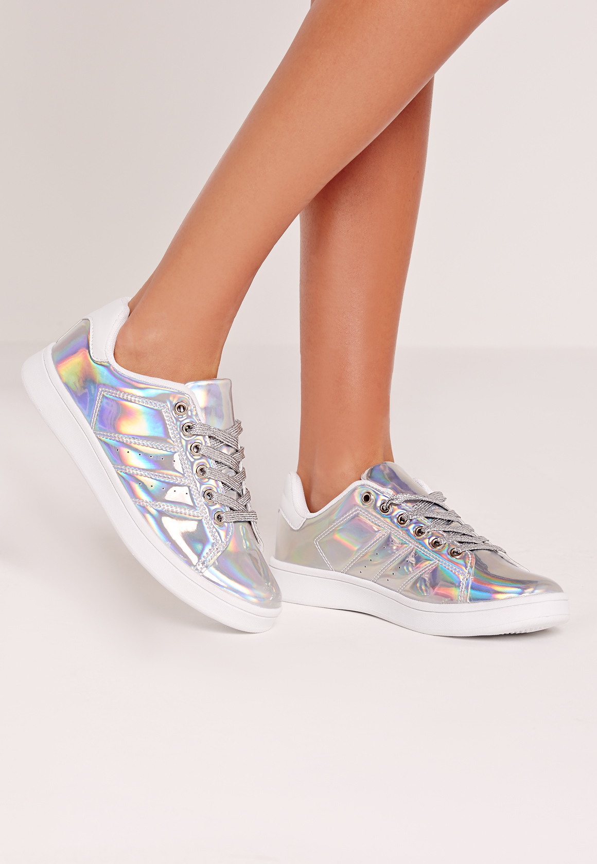 Holographic Tennis Shoes