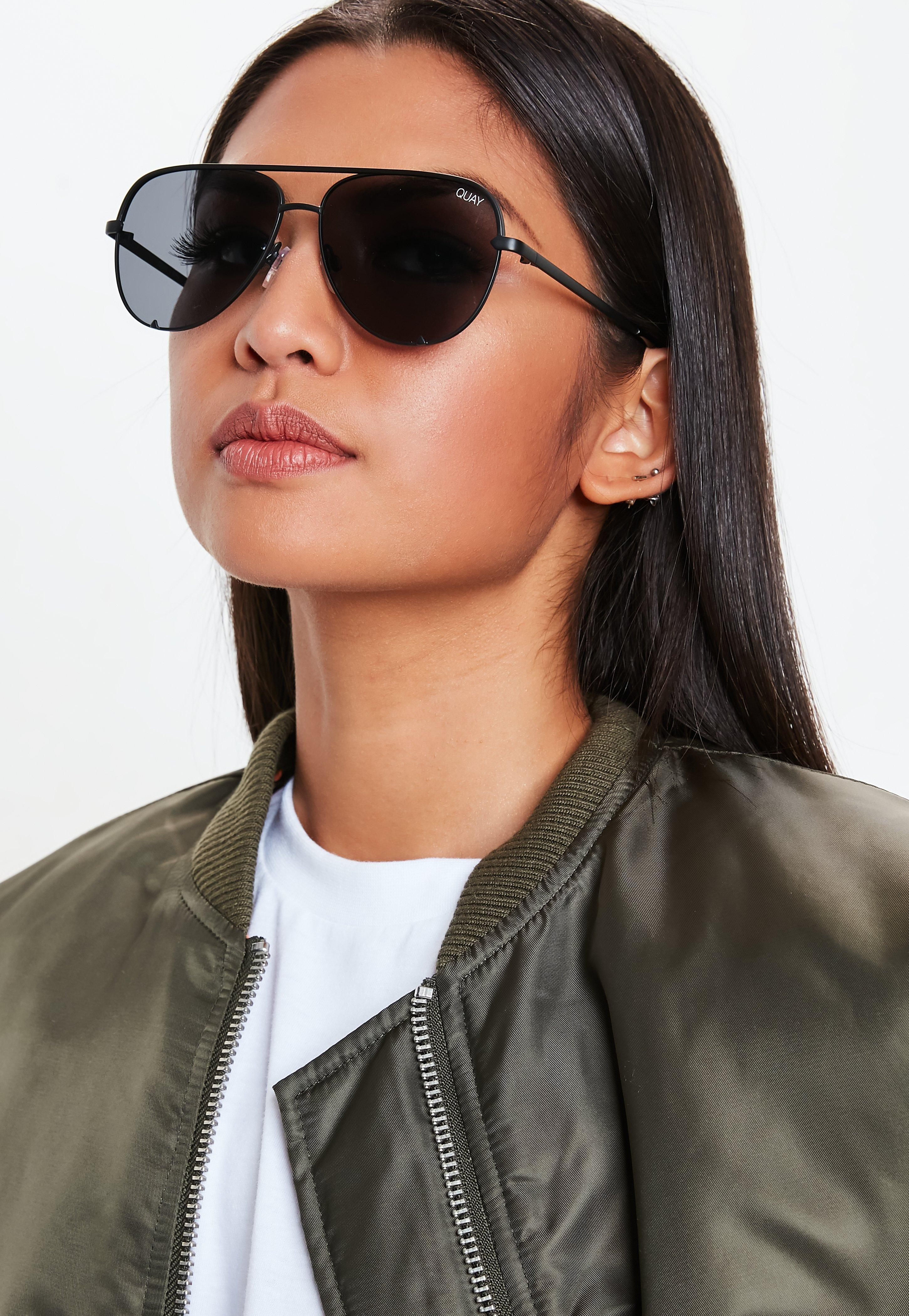 53e466e472 Missguided Quay Australia Black High Key Mini Sunglasses in Black - Lyst