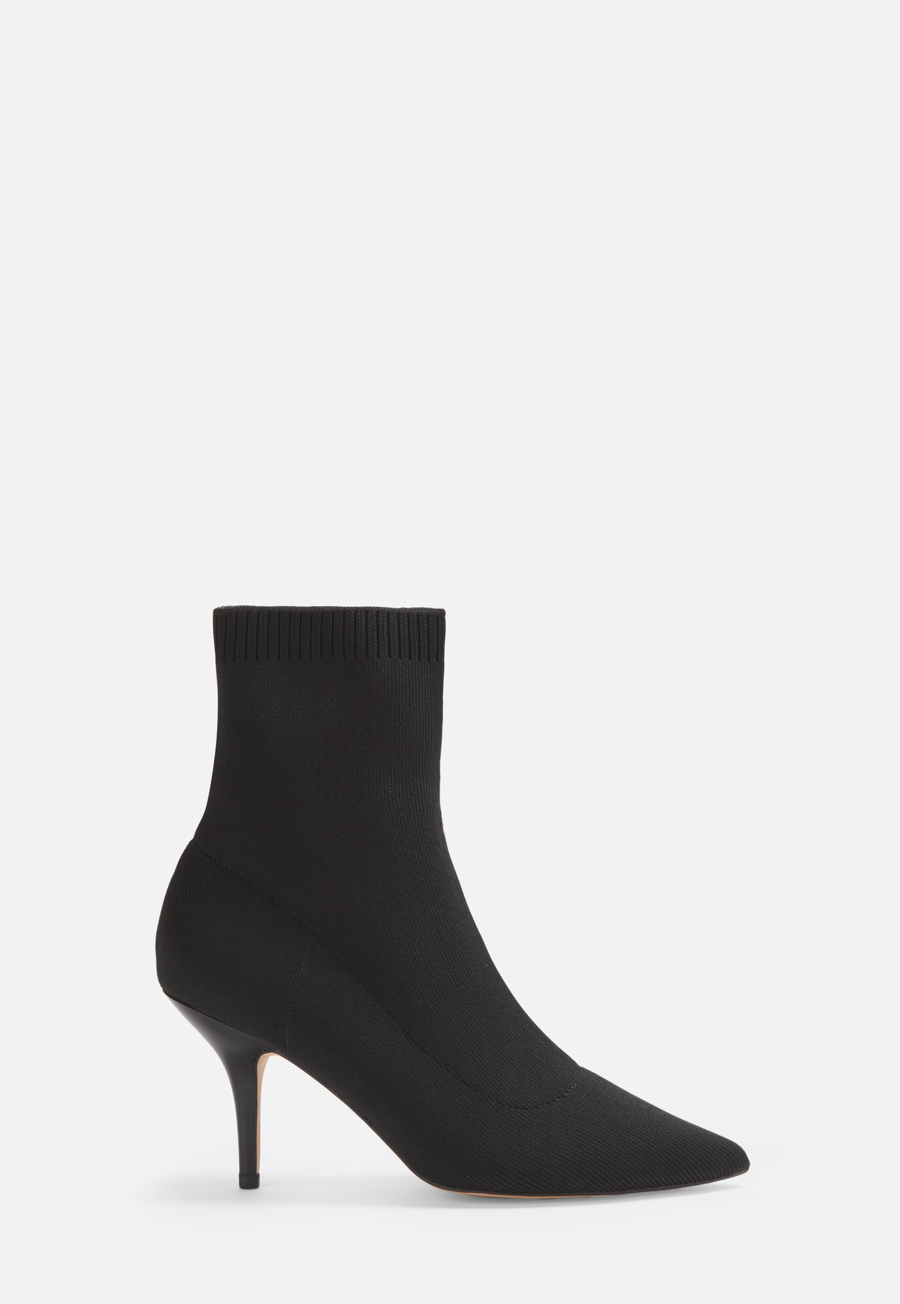 Missguided Knitted Mid Heel Sock Boots