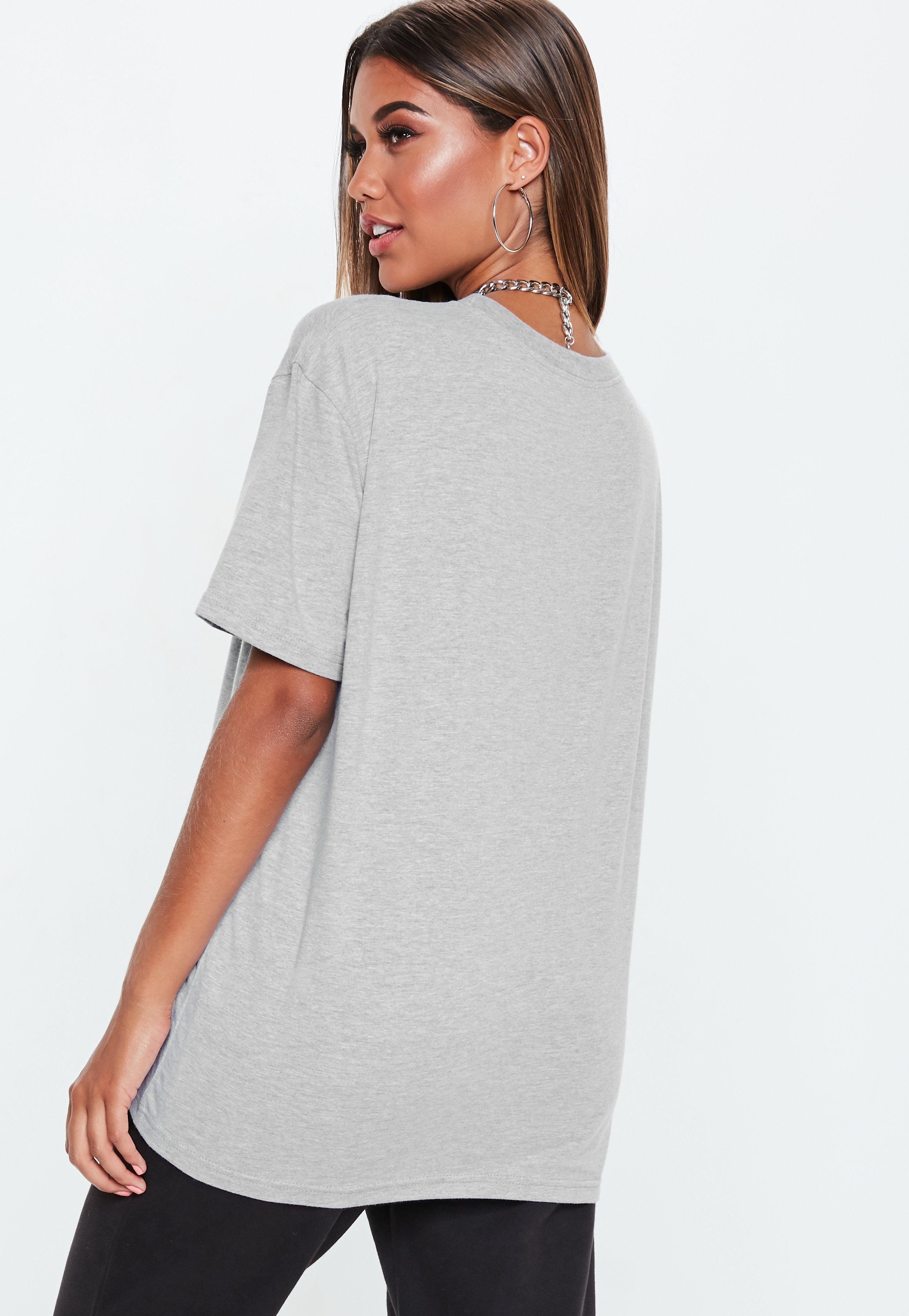 8f068a3550d Missguided Gray Playboy X Grey Oversized T Shirt