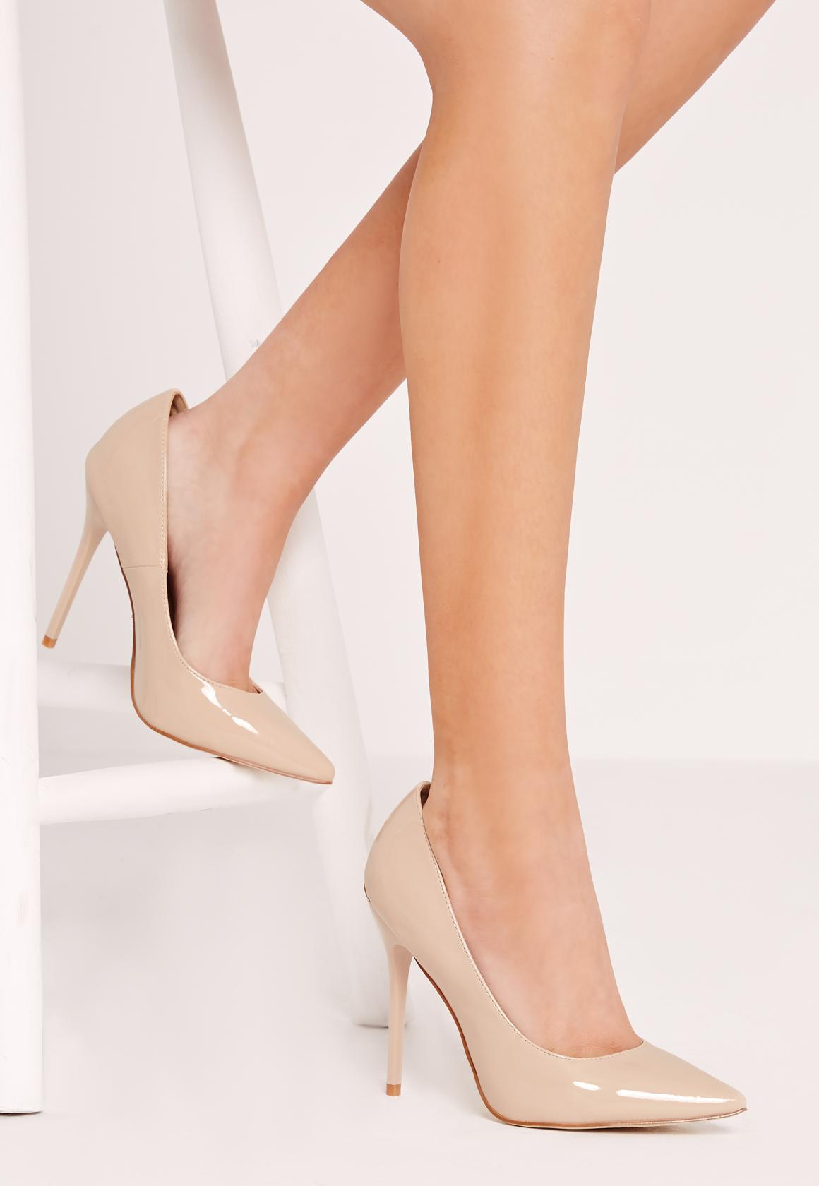 6cbbdb25fc8 Lyst - Missguided Point Toe Court Shoe Nude in Natural