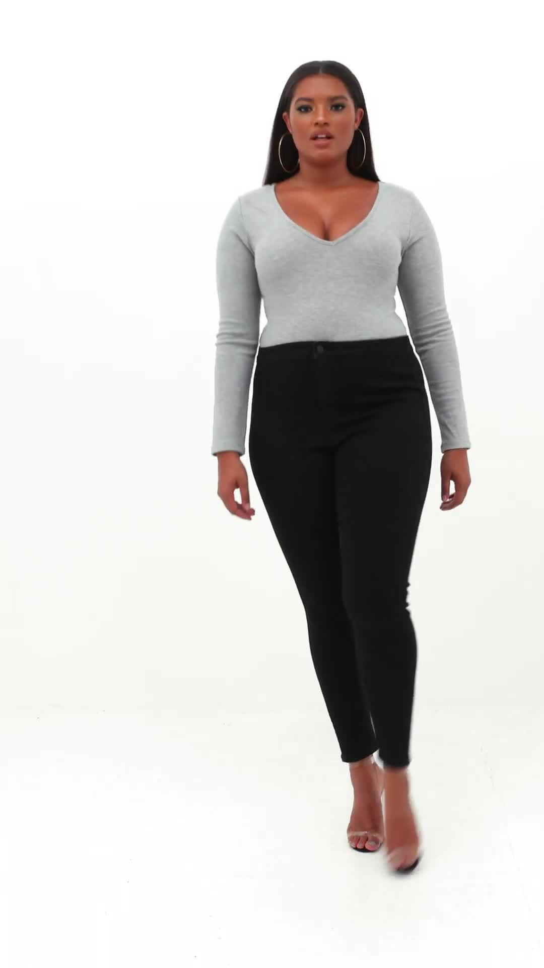 Missguided Denim Size Black High Waisted Skinny Jeans