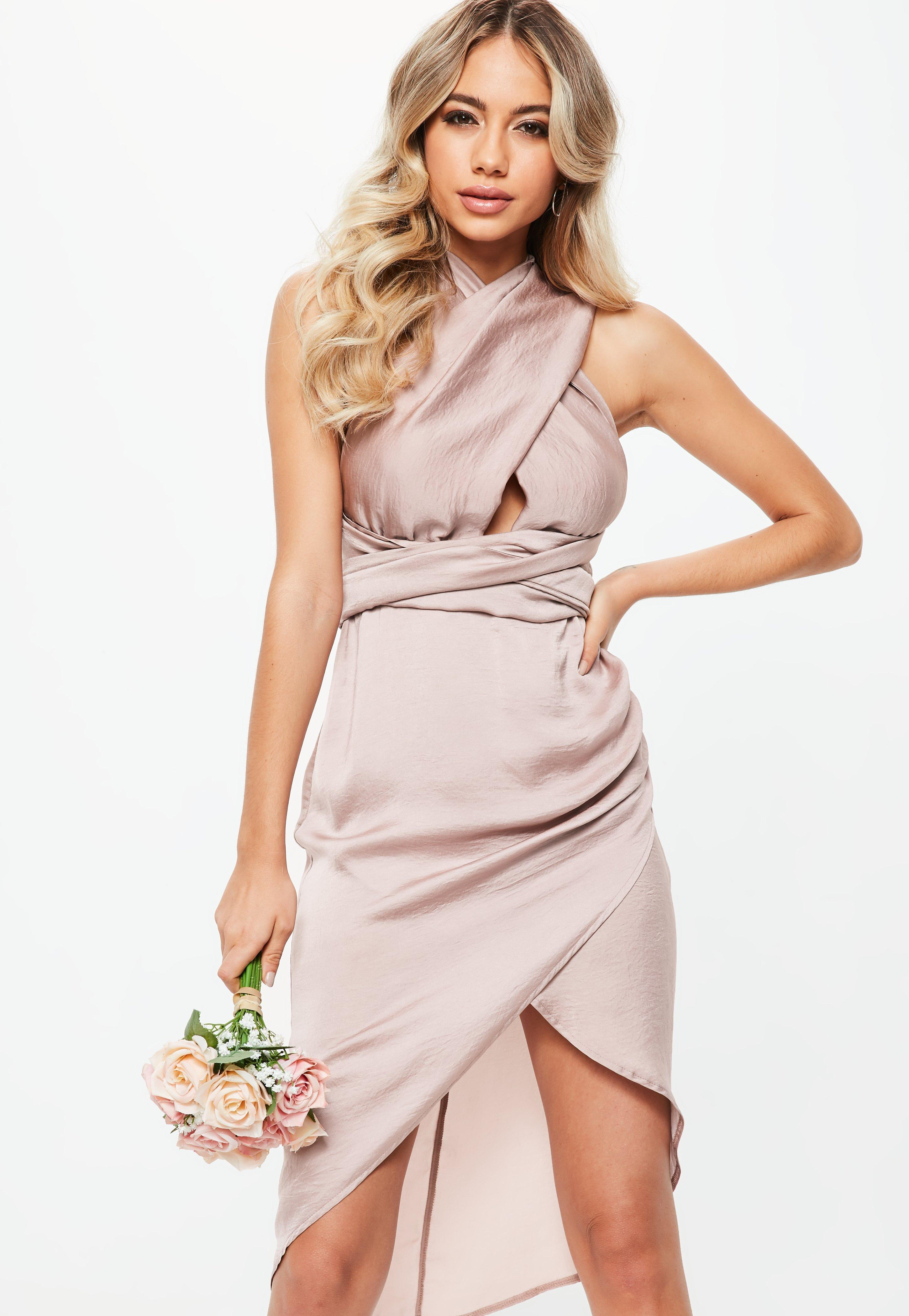 e9b762fc4f59 Gallery. Previously sold at  Missguided · Women s Bridesmaid Dresses  Women s Pink ...