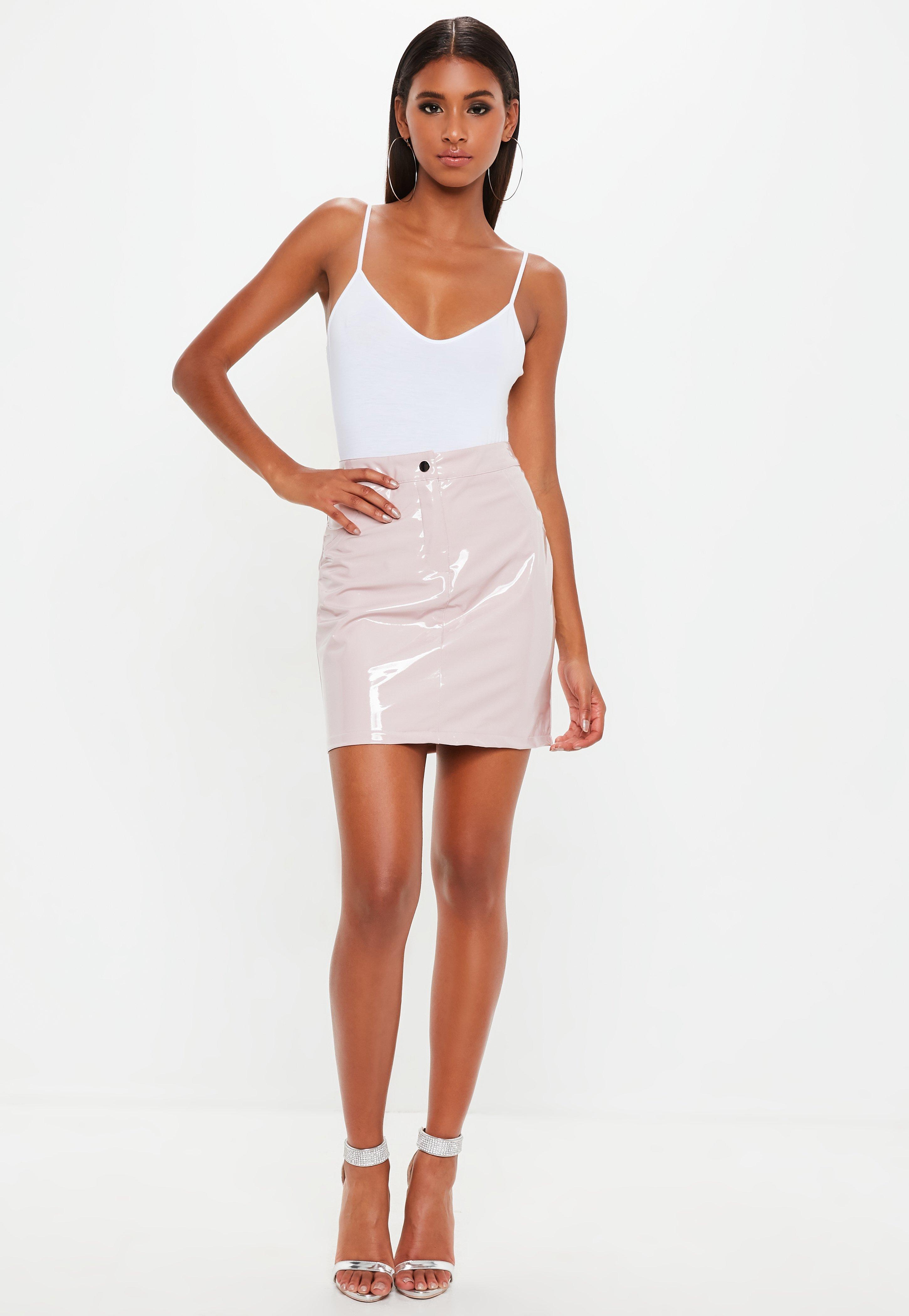 2274b3ee76 Missguided - Multicolor Nude Vinyl Mini Skirt - Lyst. View fullscreen