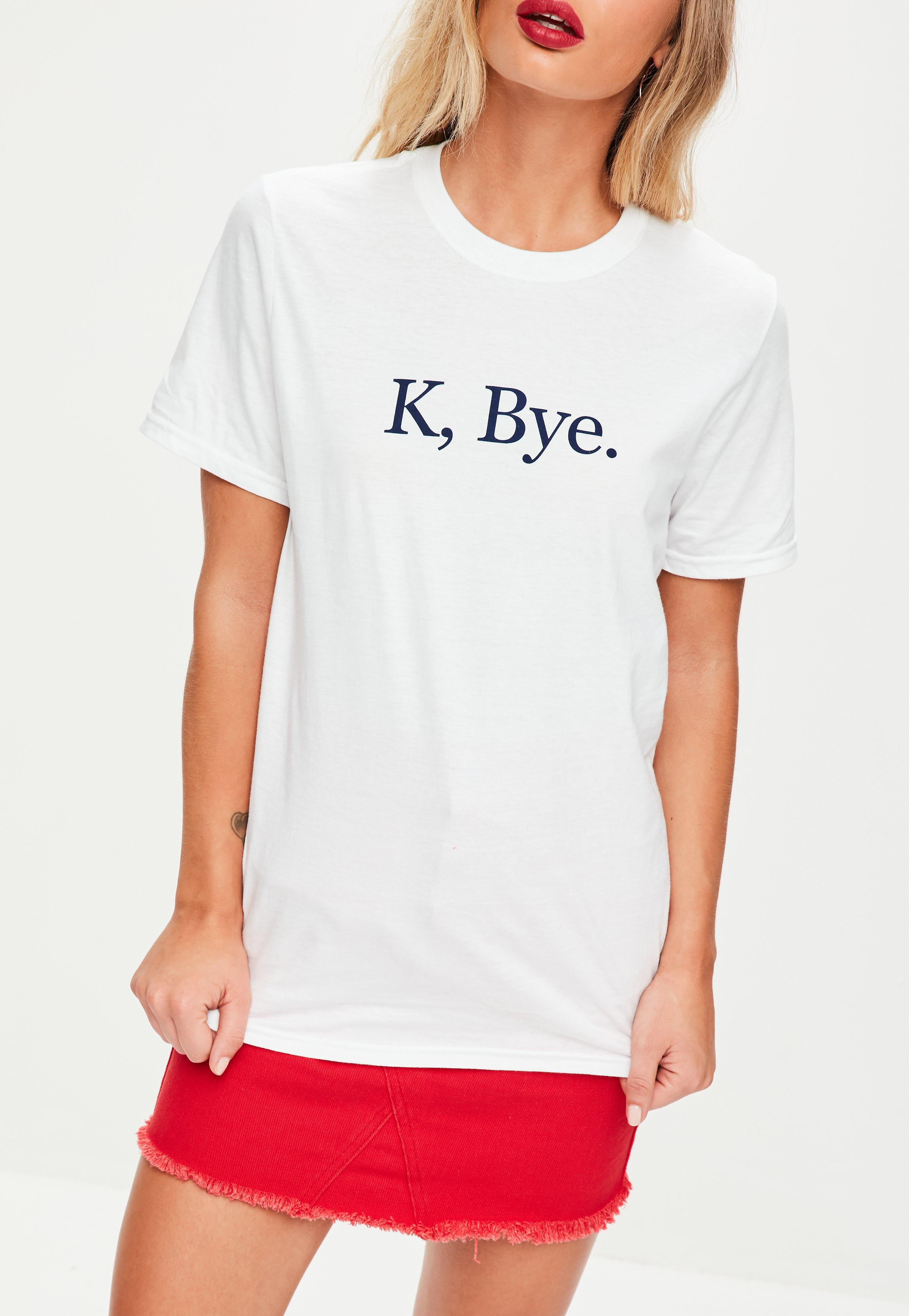 Missguided White K Bye T-shirt In White