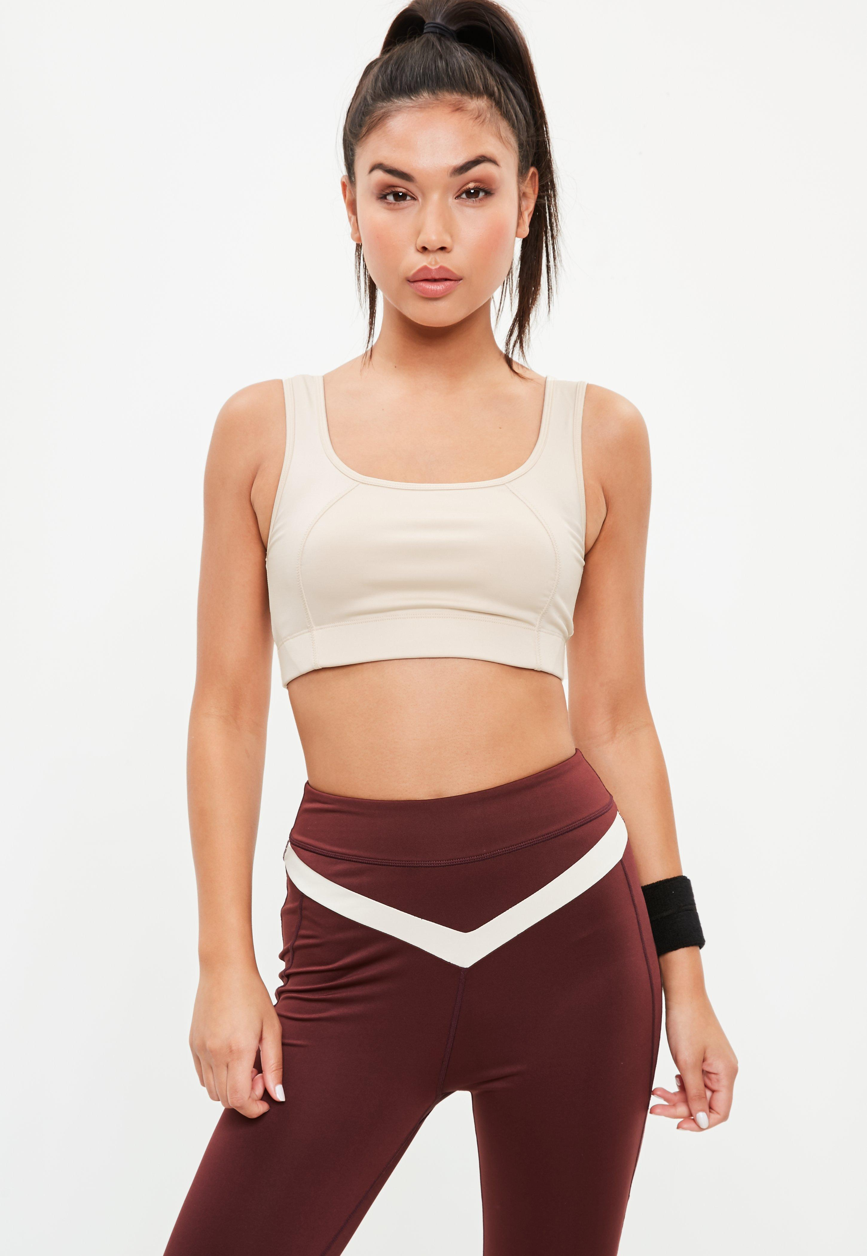 cd9d708363a Lyst - Missguided Active White Crop Top in White