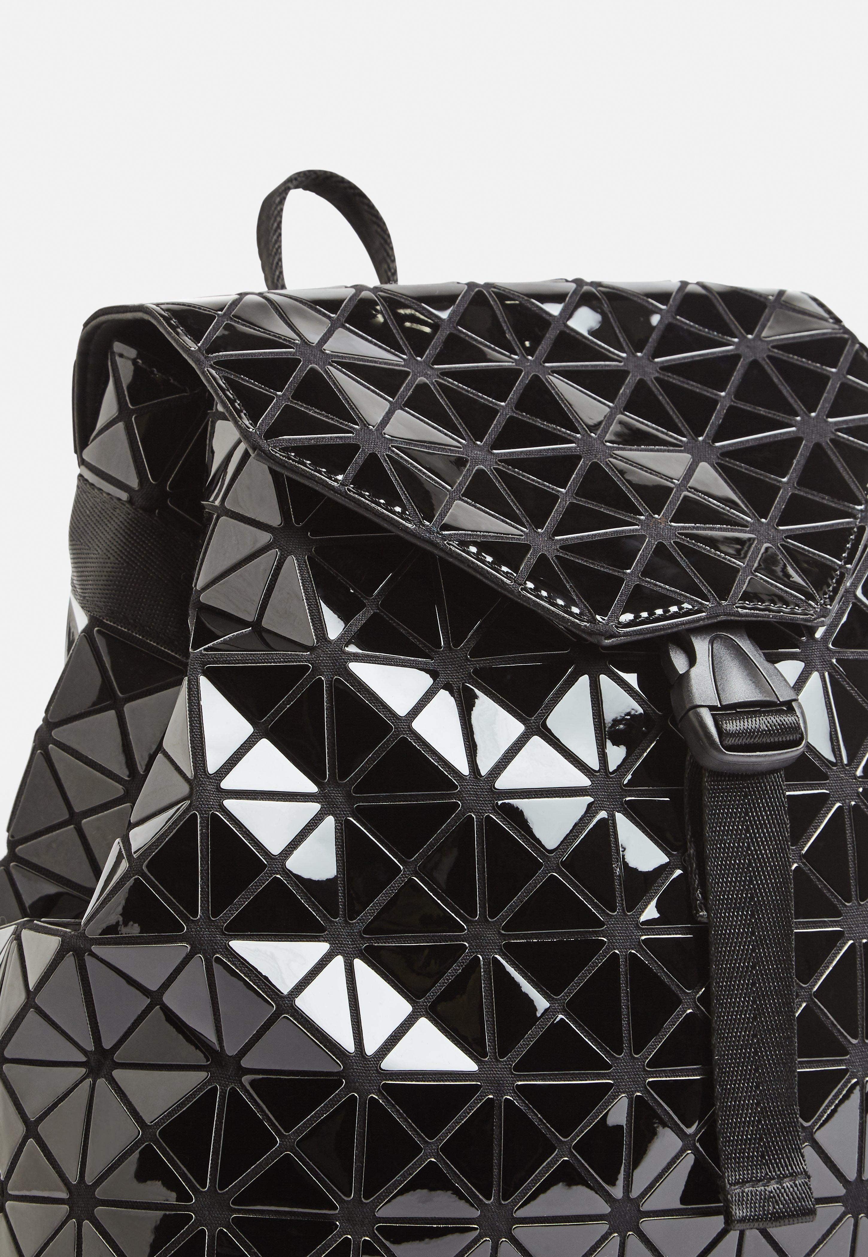 Missguided Black Geometric Patent Backpack