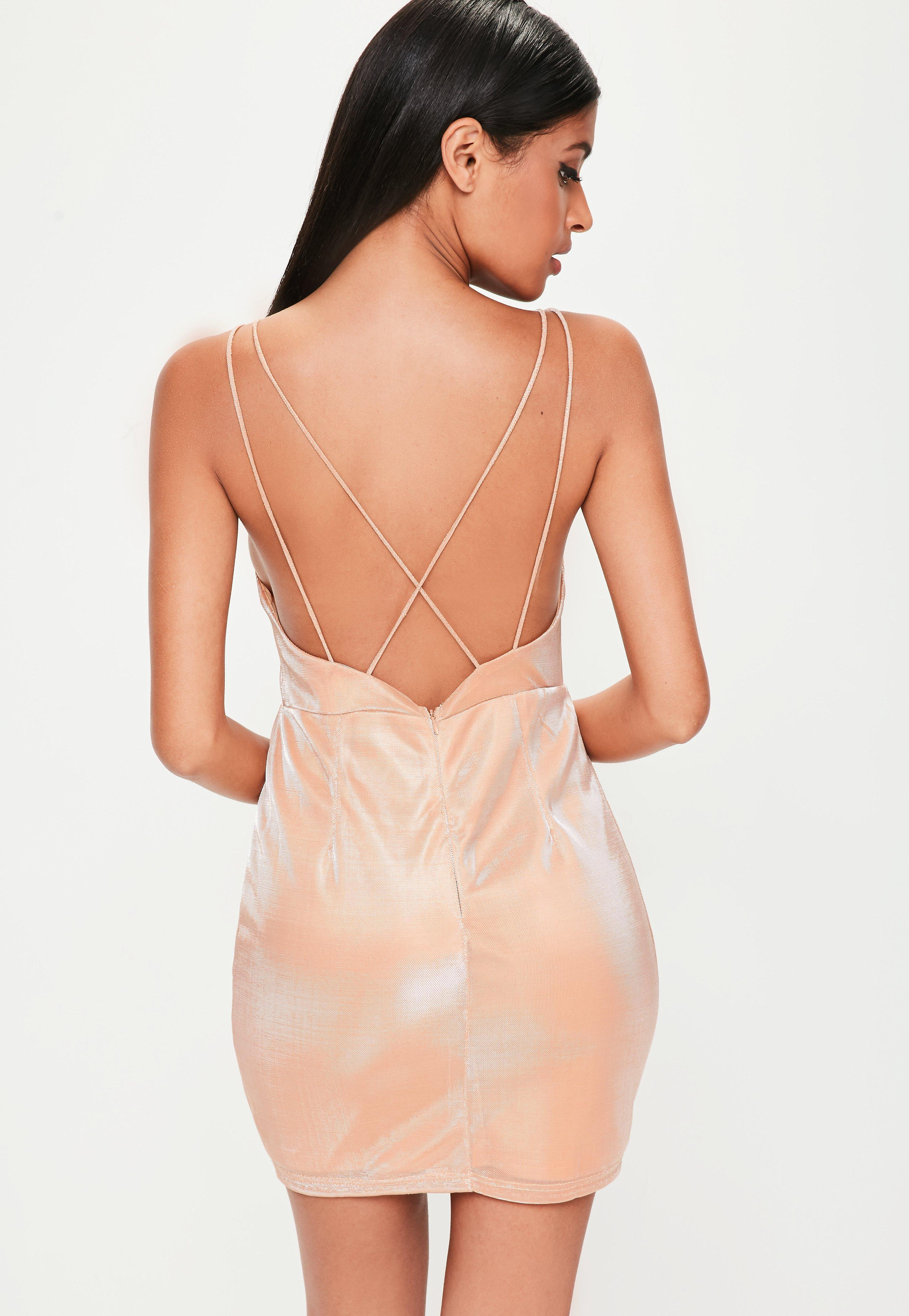 22d06f68eff Lyst - Missguided Pink Metallic Sheen Cami Dress in Pink