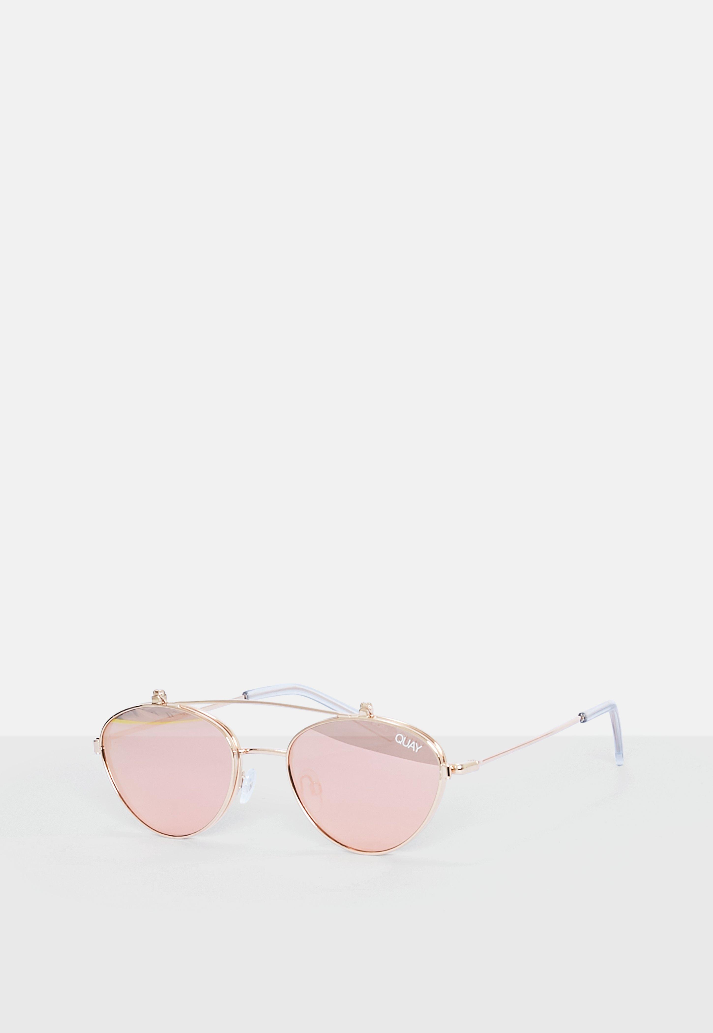 b4186d4fac ... Quay Australia X Elle Ferguson Elle Rose Gold Sunglasses - Lyst. View  fullscreen