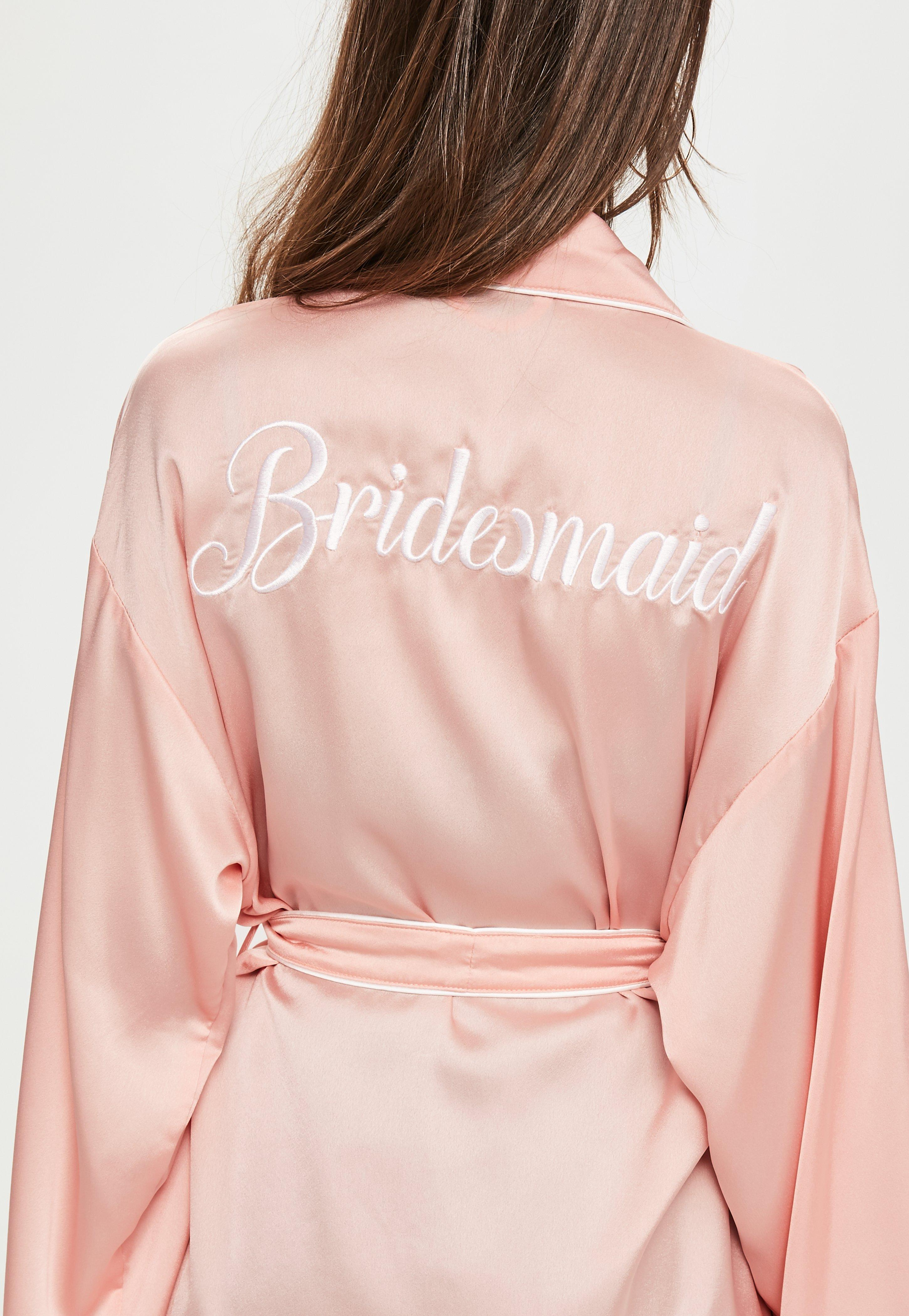Lyst Missguided Nude Bridesmaid Dressing Gown In Natural