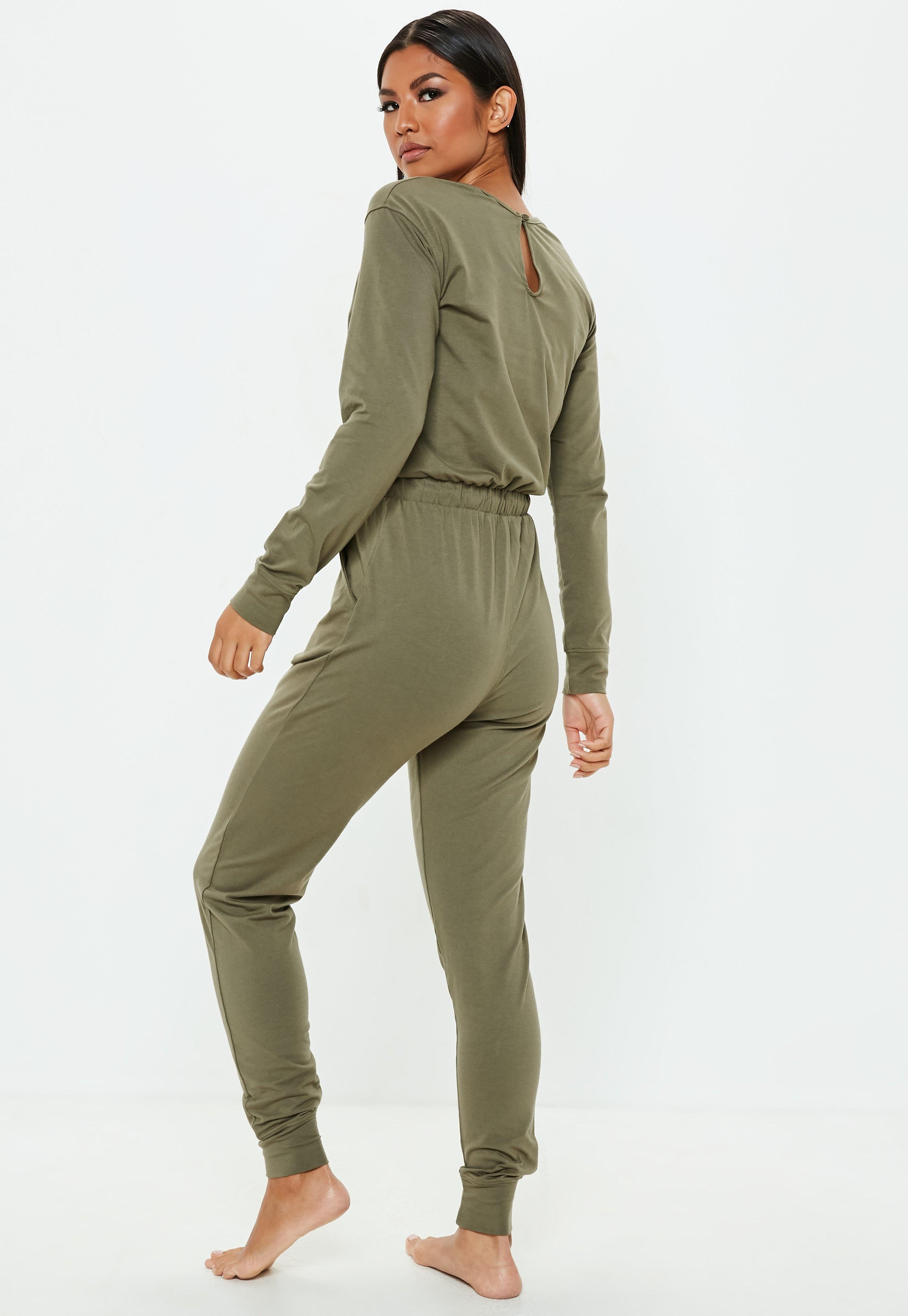 d384f5069b3 Missguided - Green Khaki Casual Loungewear Jumpsuit - Lyst. View fullscreen