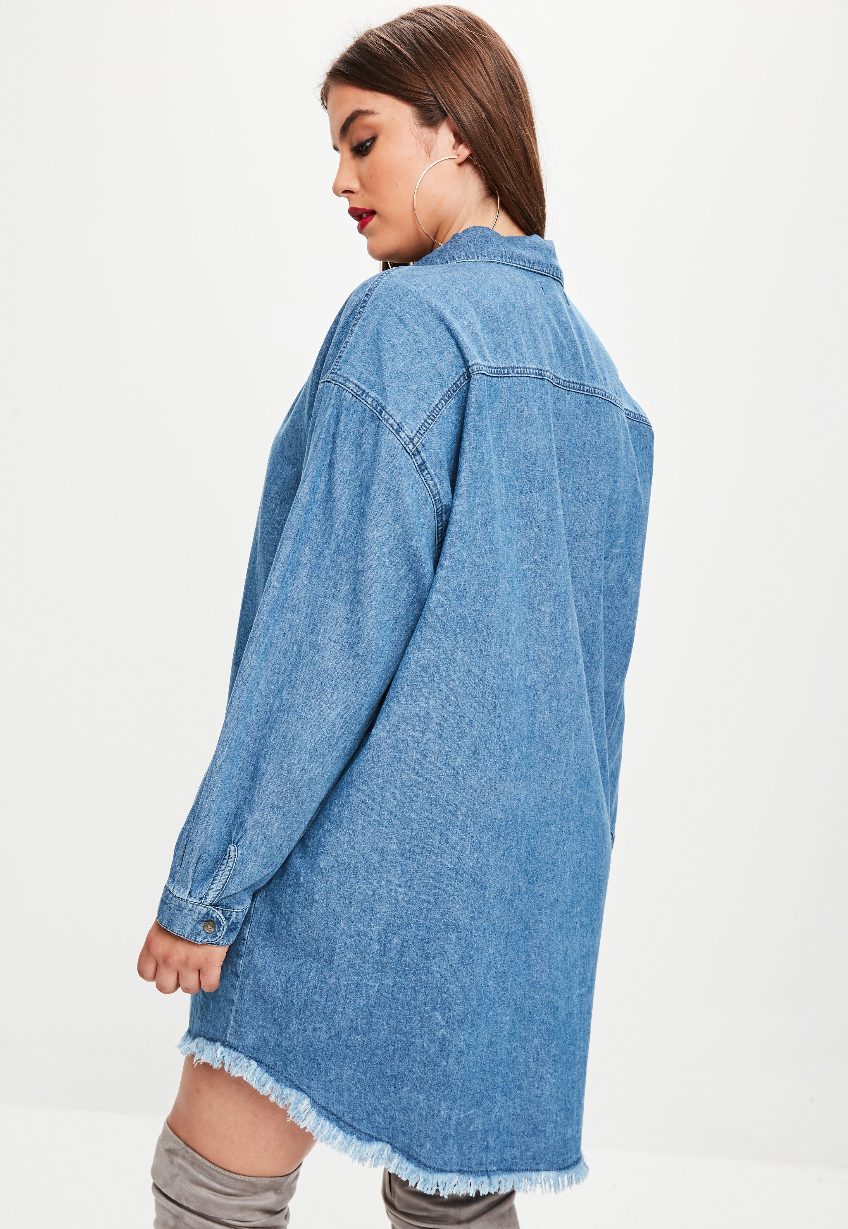 Plus Size Jean Shirt Dress | Azərbaycan Dillər Universiteti