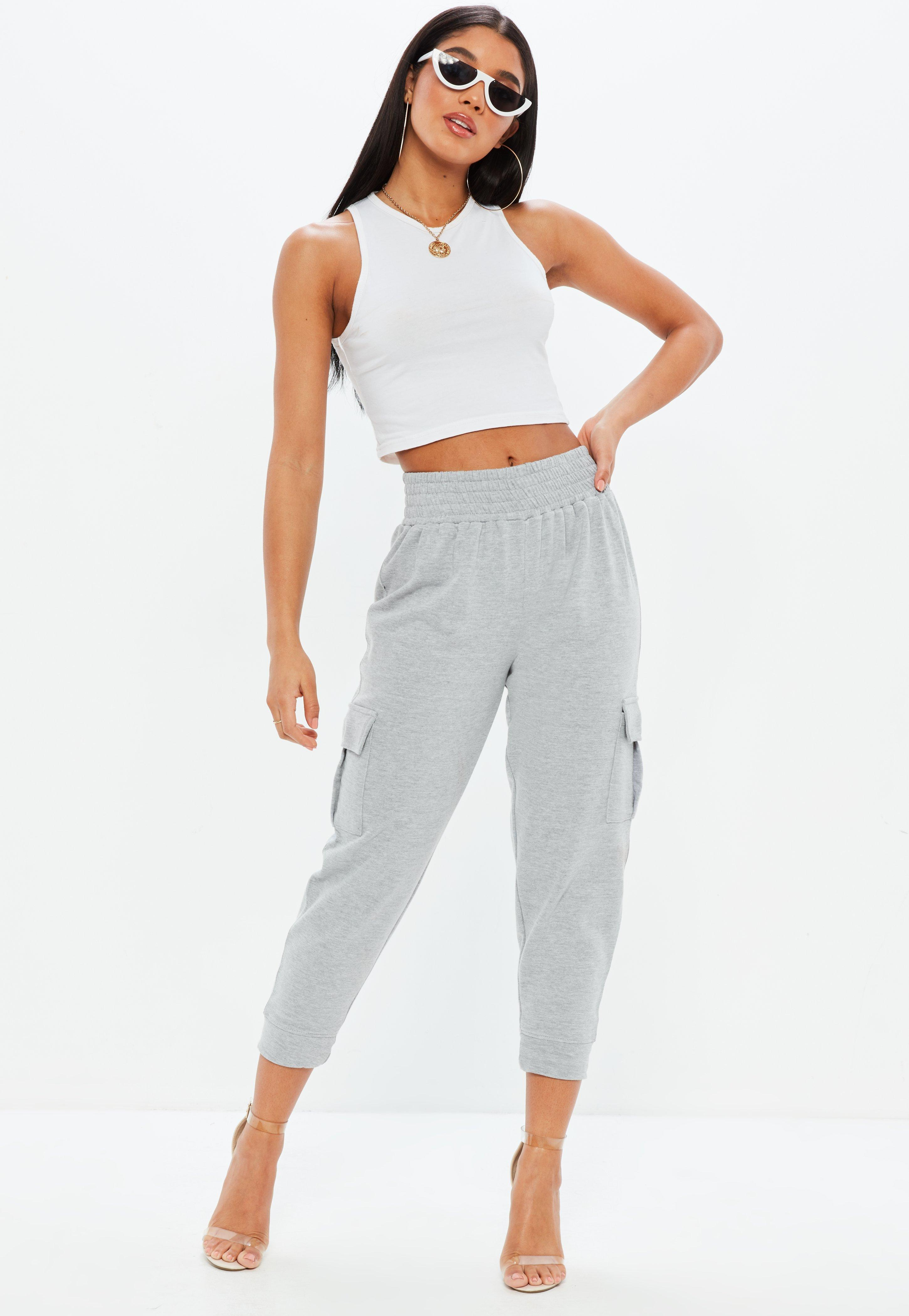 Missguided Petite Premium Loop Back Cargo Joggers Sast For Sale bbeulY