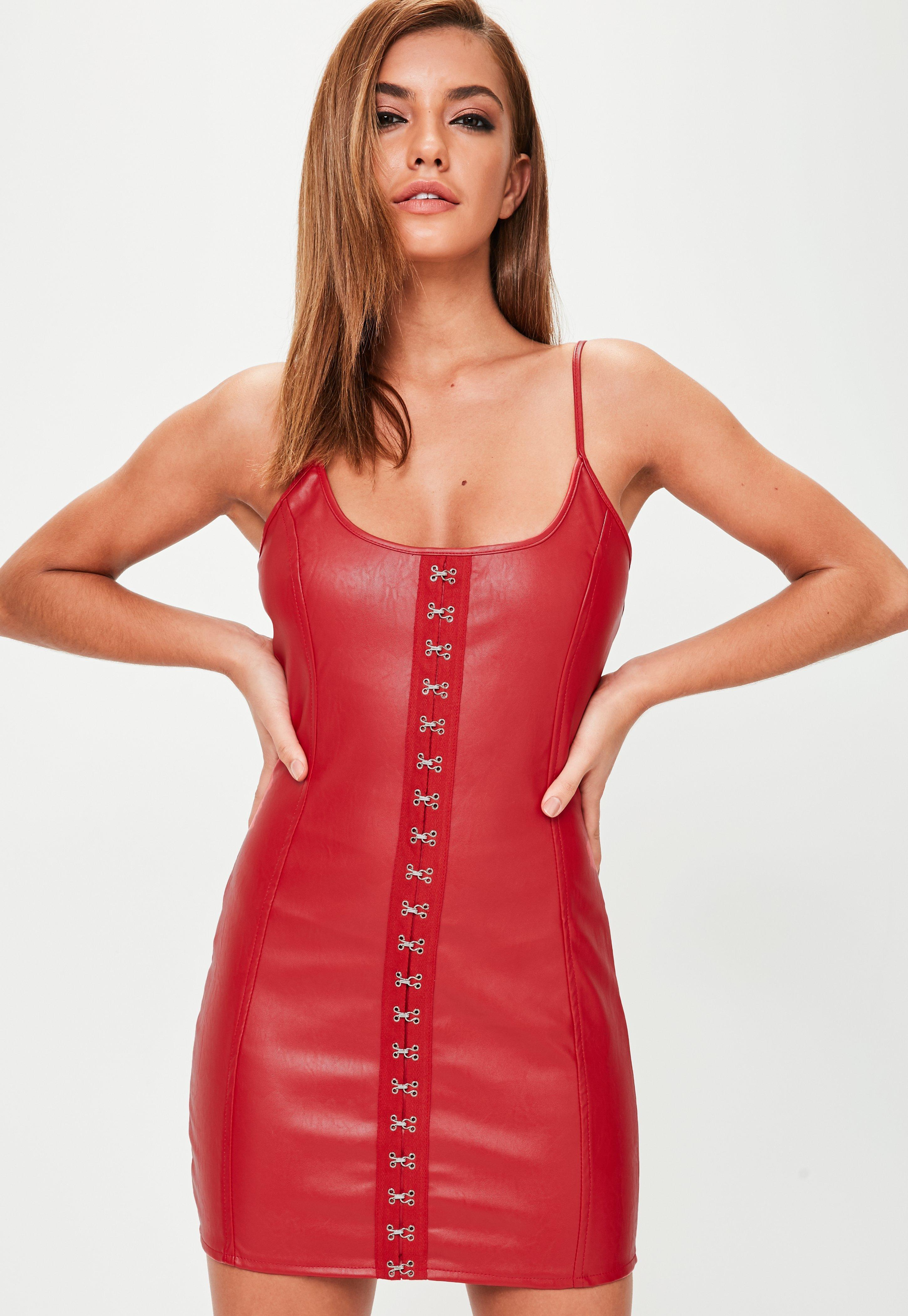 Red Leather Dress