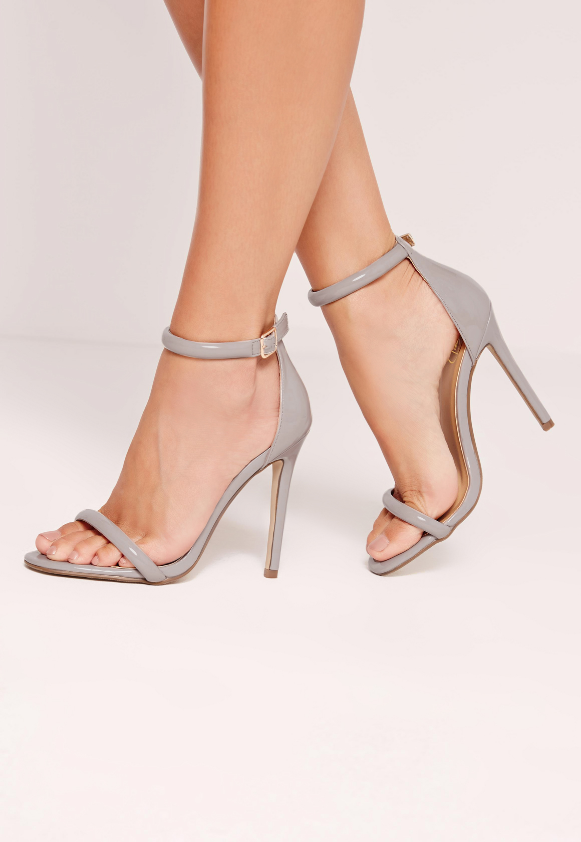 Missguided Rounded Strap Patent Barely