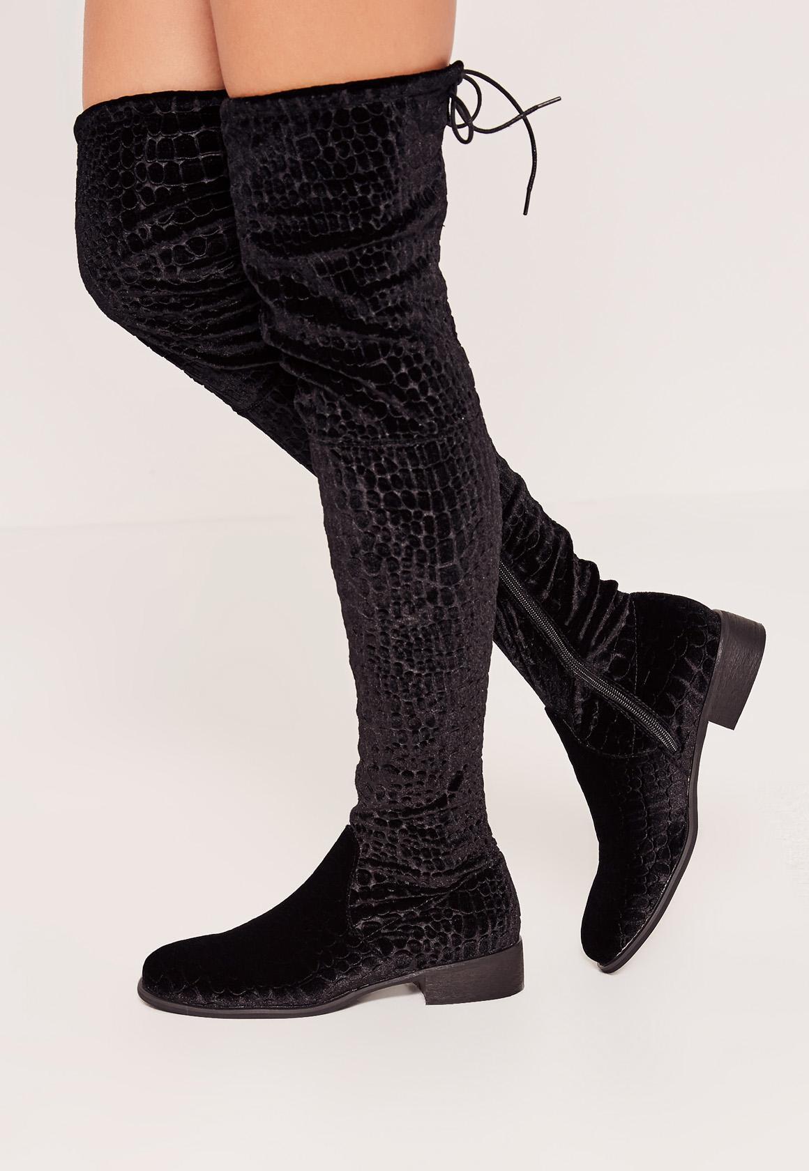 Velvet Black Flat Shoes Asos