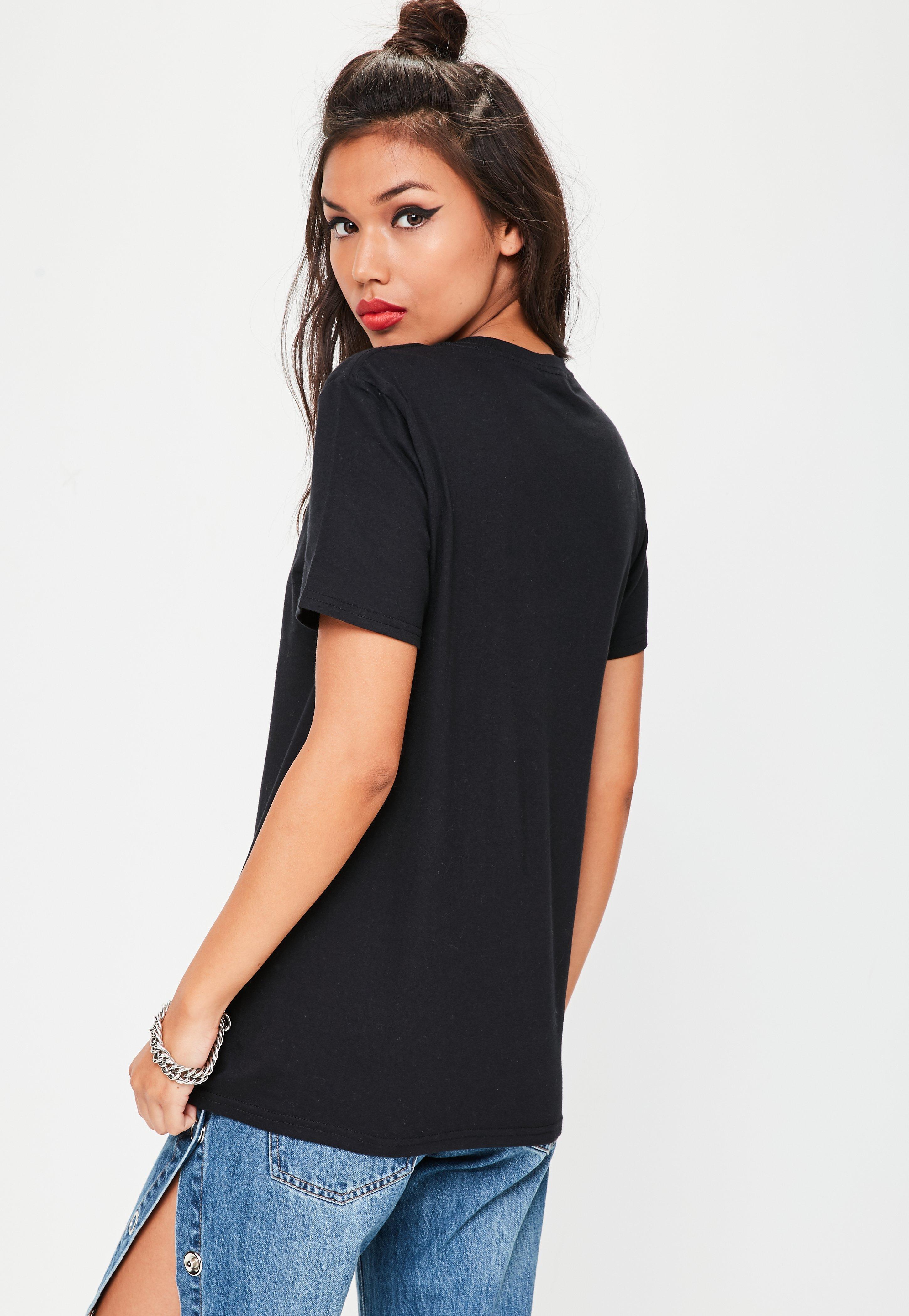 Missguided Black K Bye T-shirt In Black