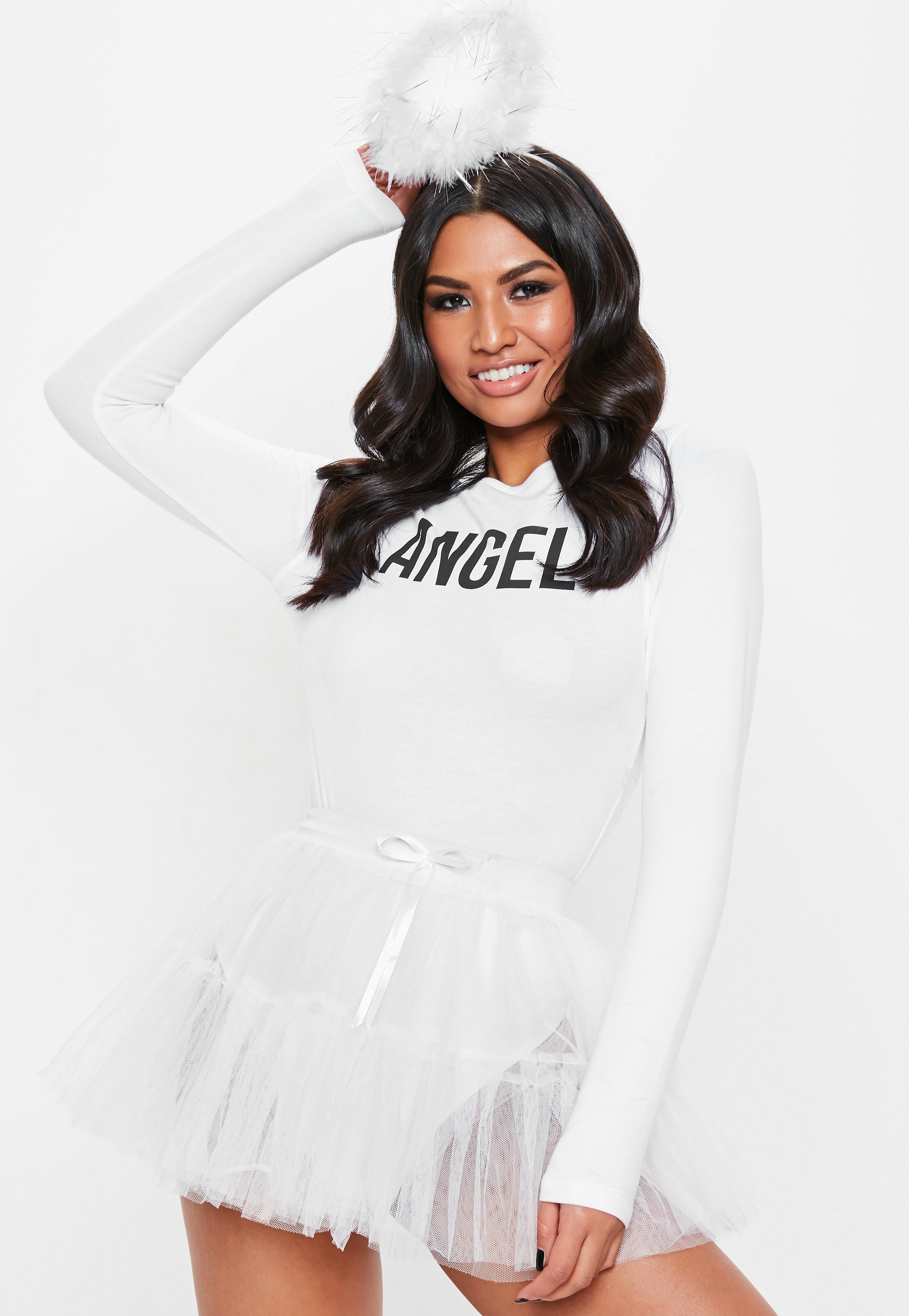 1b623c73b8 Missguided White Angel Tutu Skirt in White - Lyst