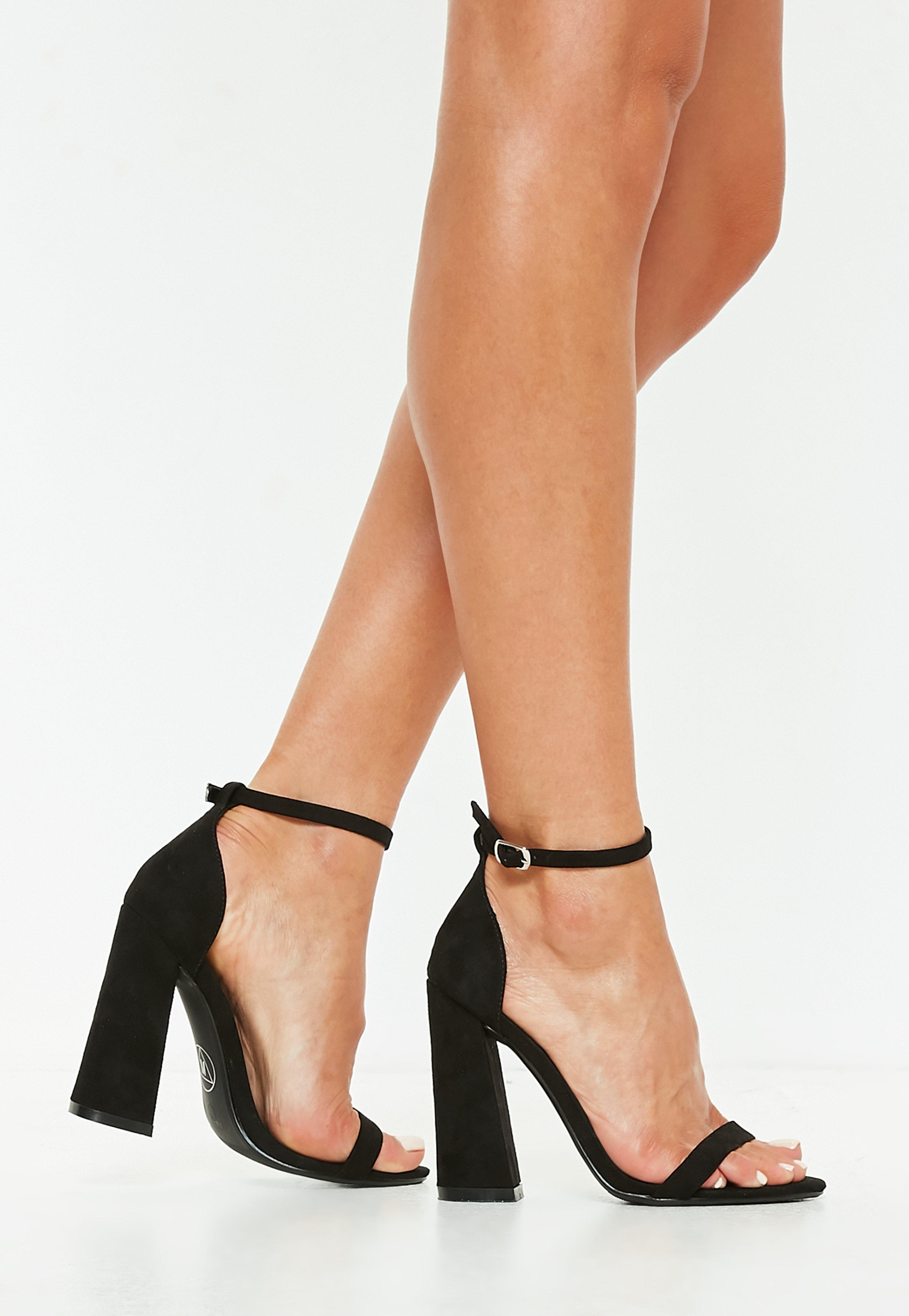 Missguided Black Faux Suede Flared