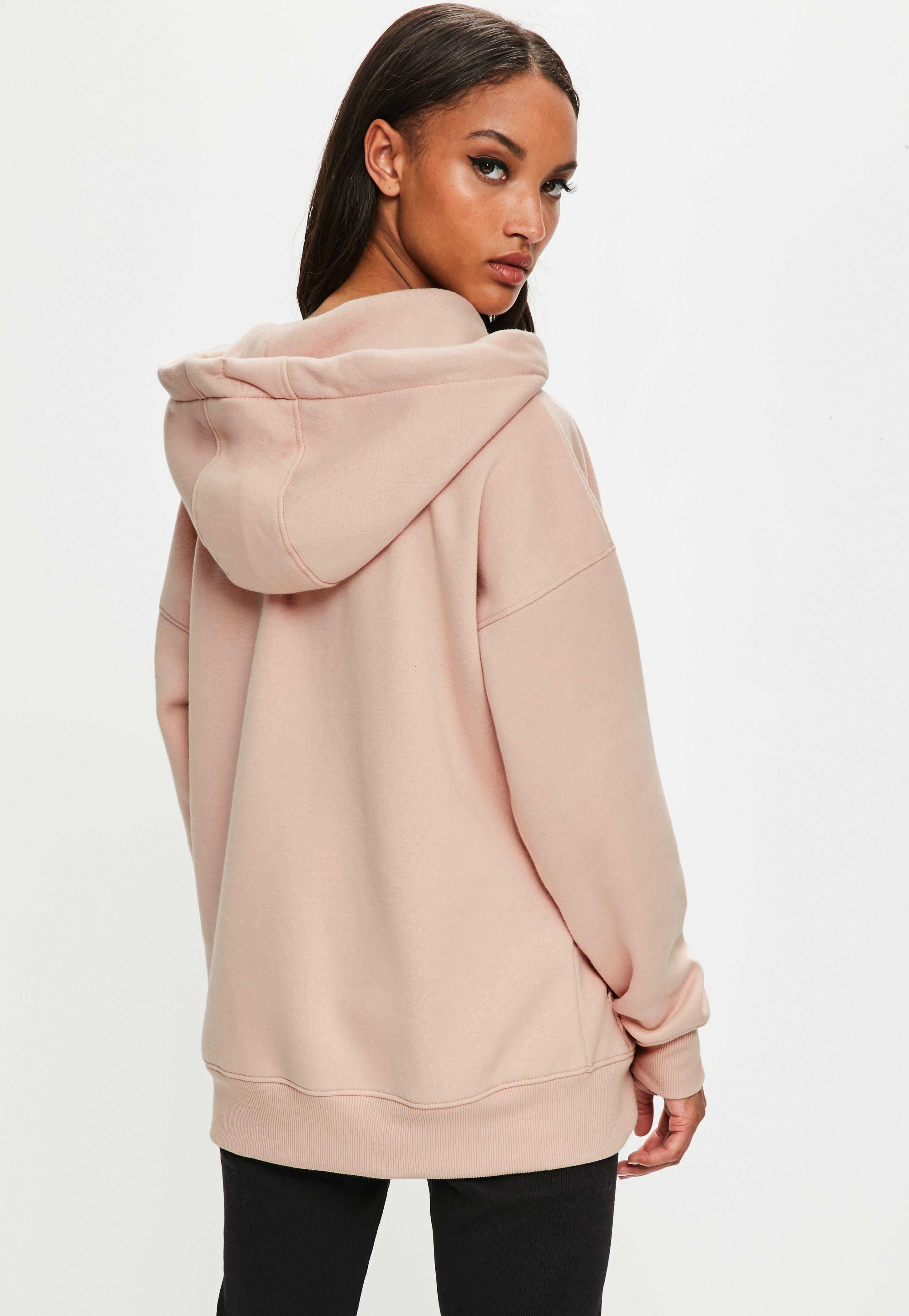 missguided londunn pink oversized hoodie in pink lyst. Black Bedroom Furniture Sets. Home Design Ideas