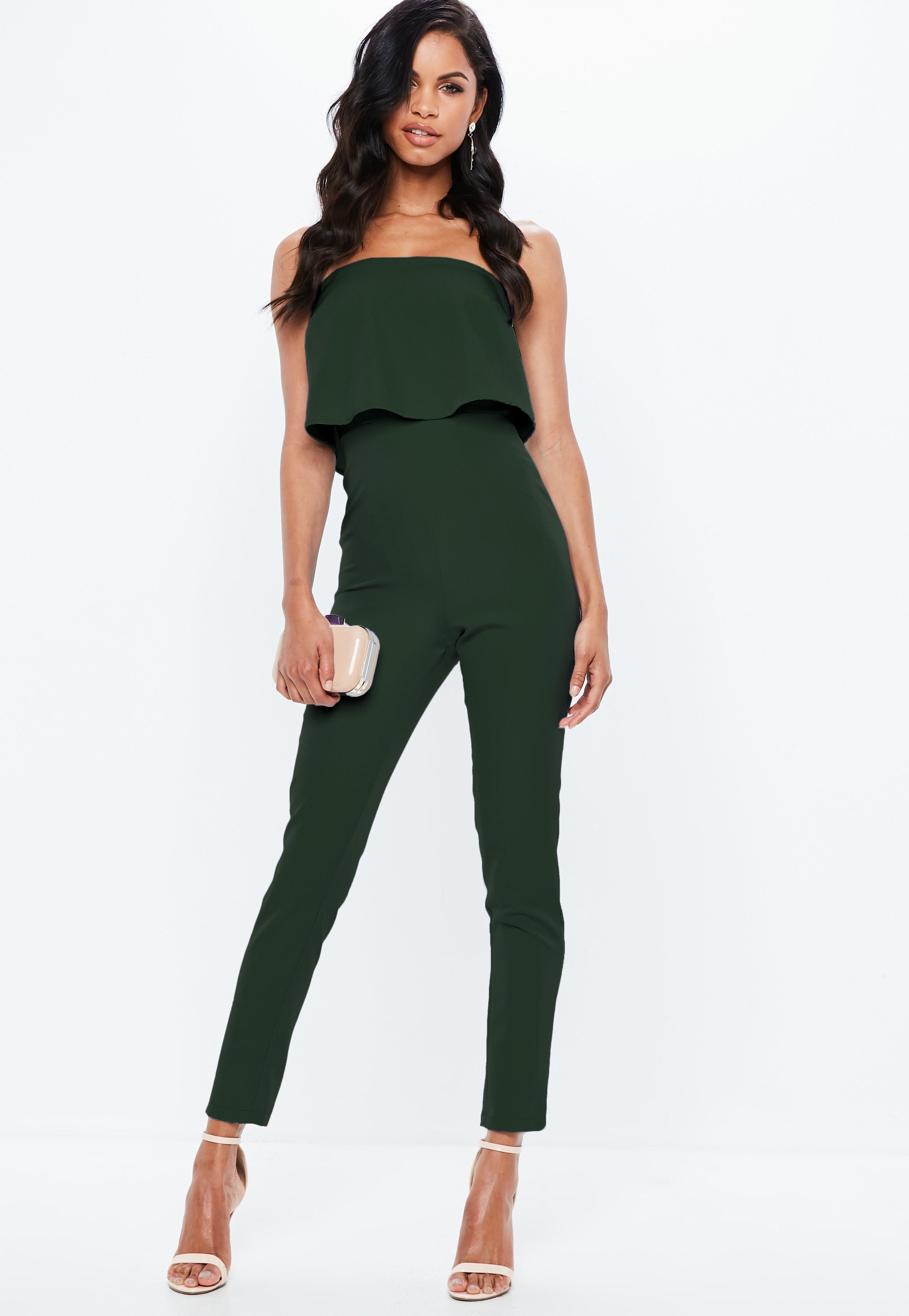 79d0e0434826 Gallery. Women s Ruffle Jumpsuits Women s One Shoulder Green ...