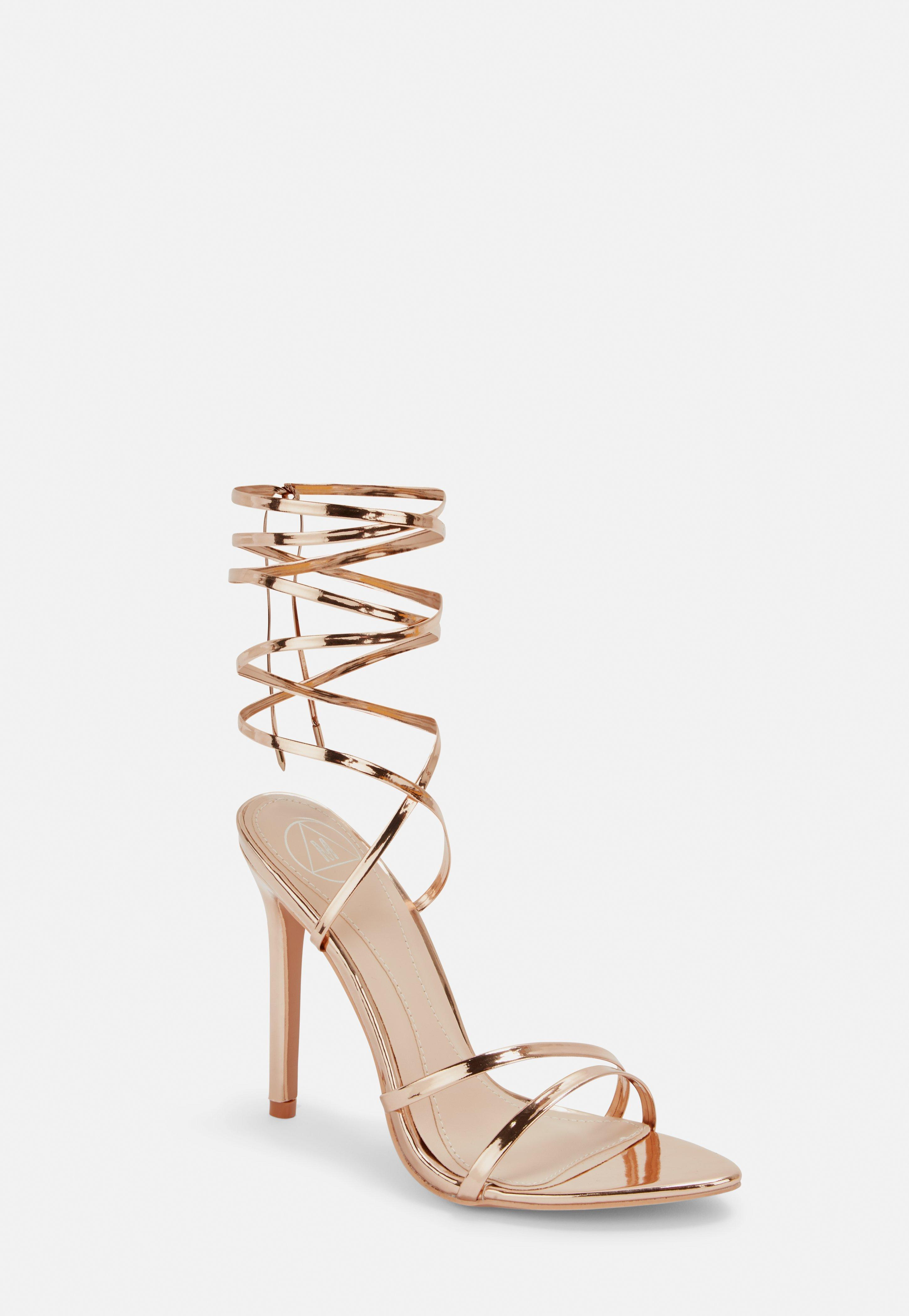 Missguided Rose Gold Pointed Toe Barely