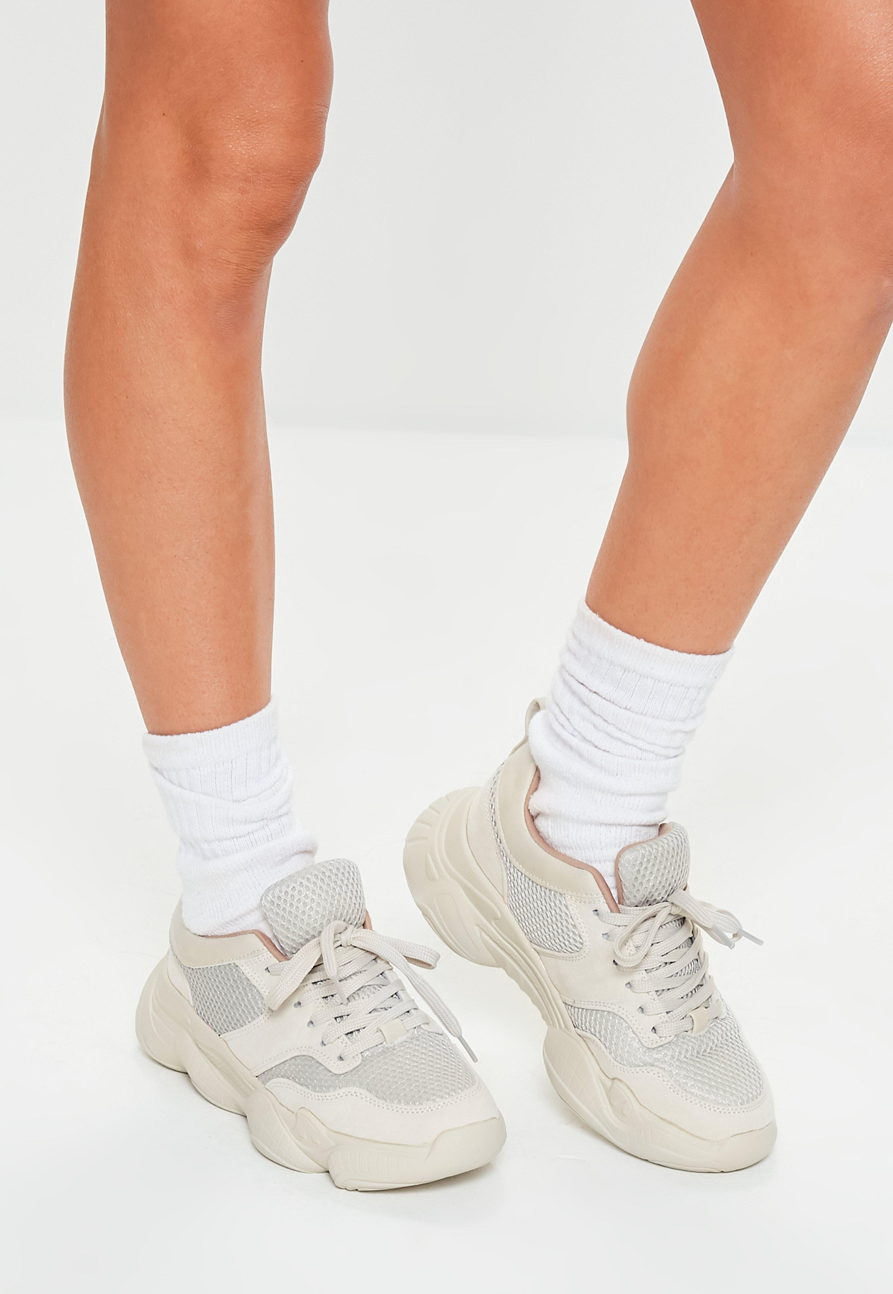Missguided Nude Chunky Sole Trainers in