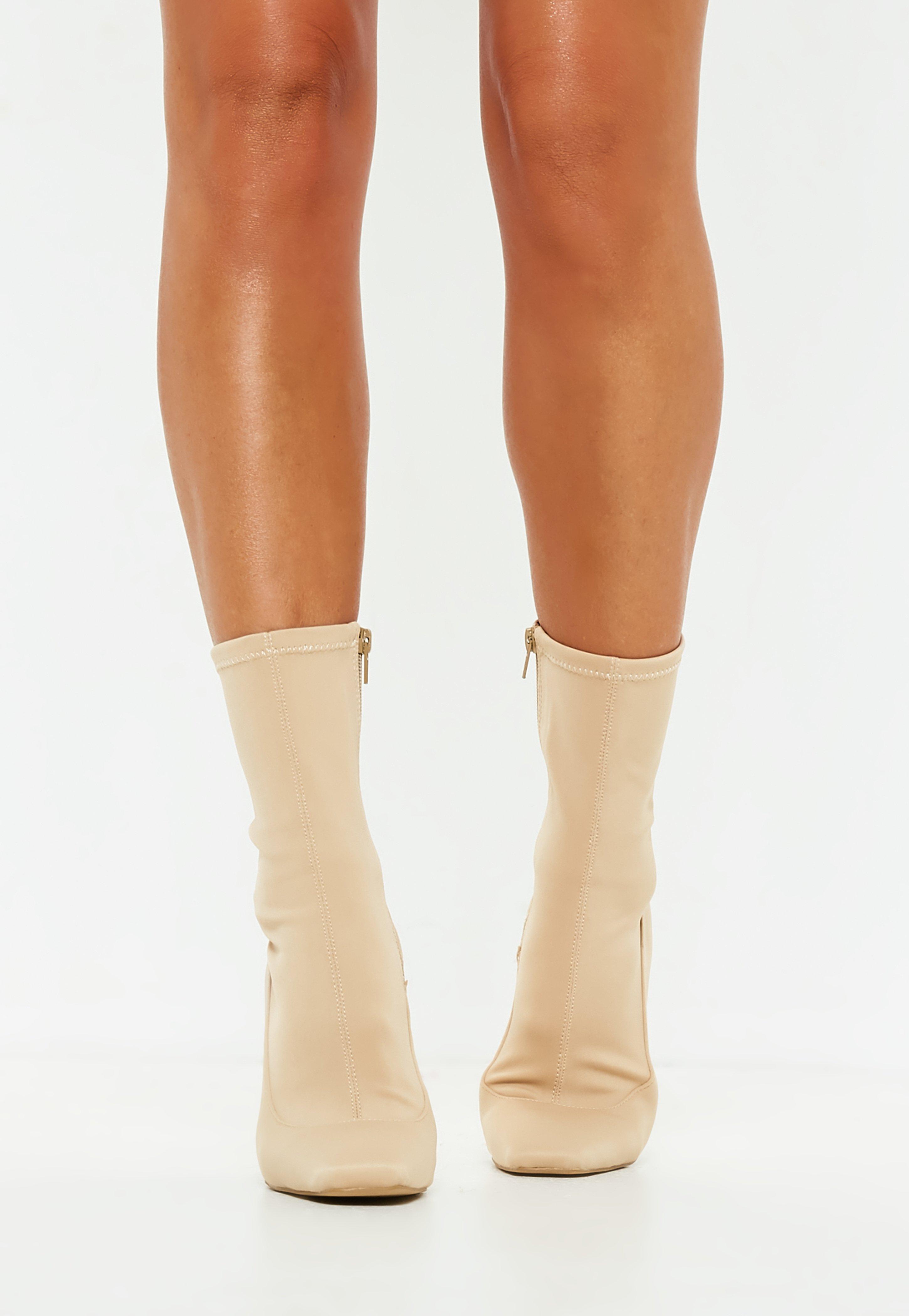 Missguided Nude Illusion Heel Sock