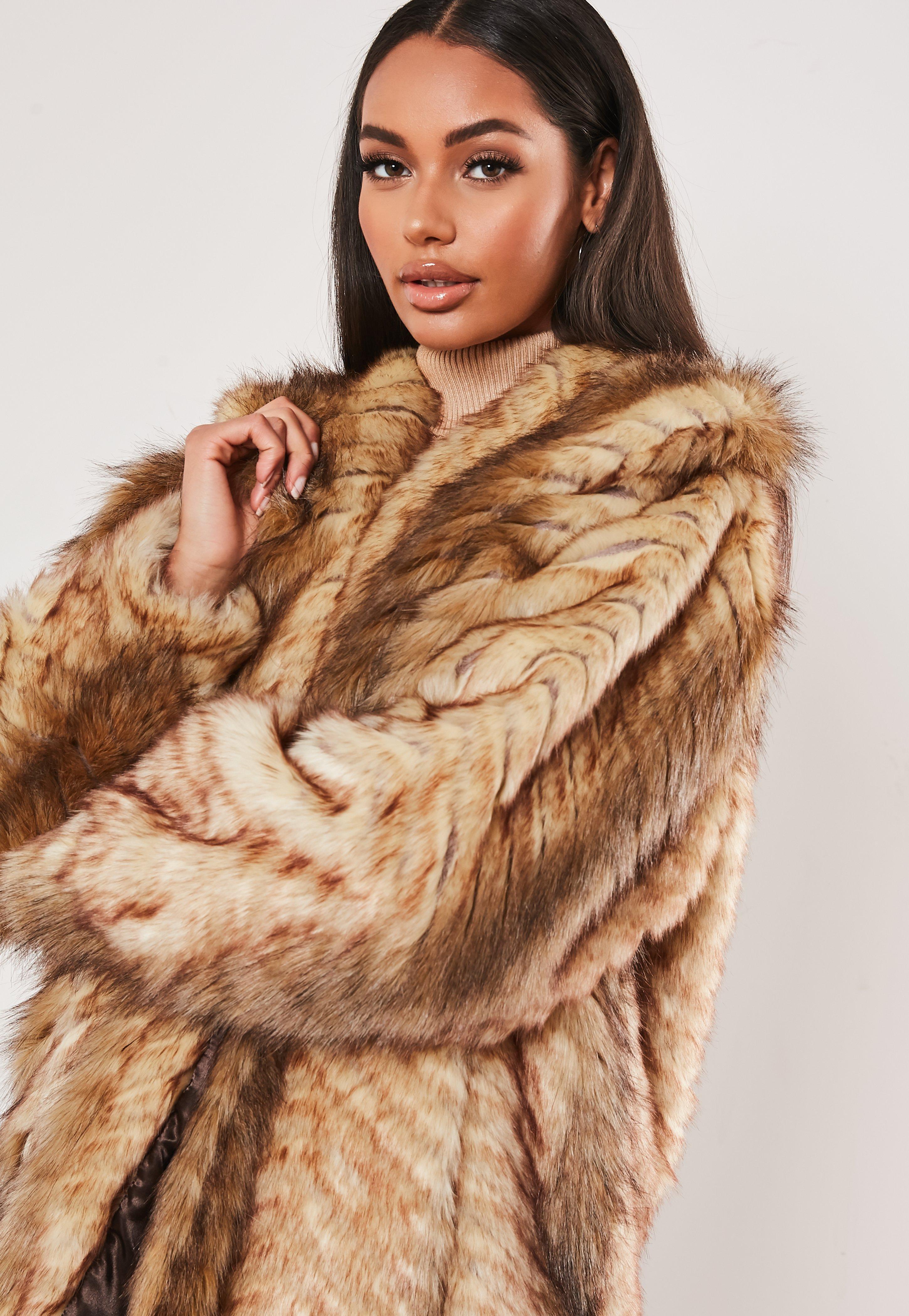 Sizes 8-14 568# Women Ladies New Soft Furry Brown /& Mustard Anchor Print Jumper
