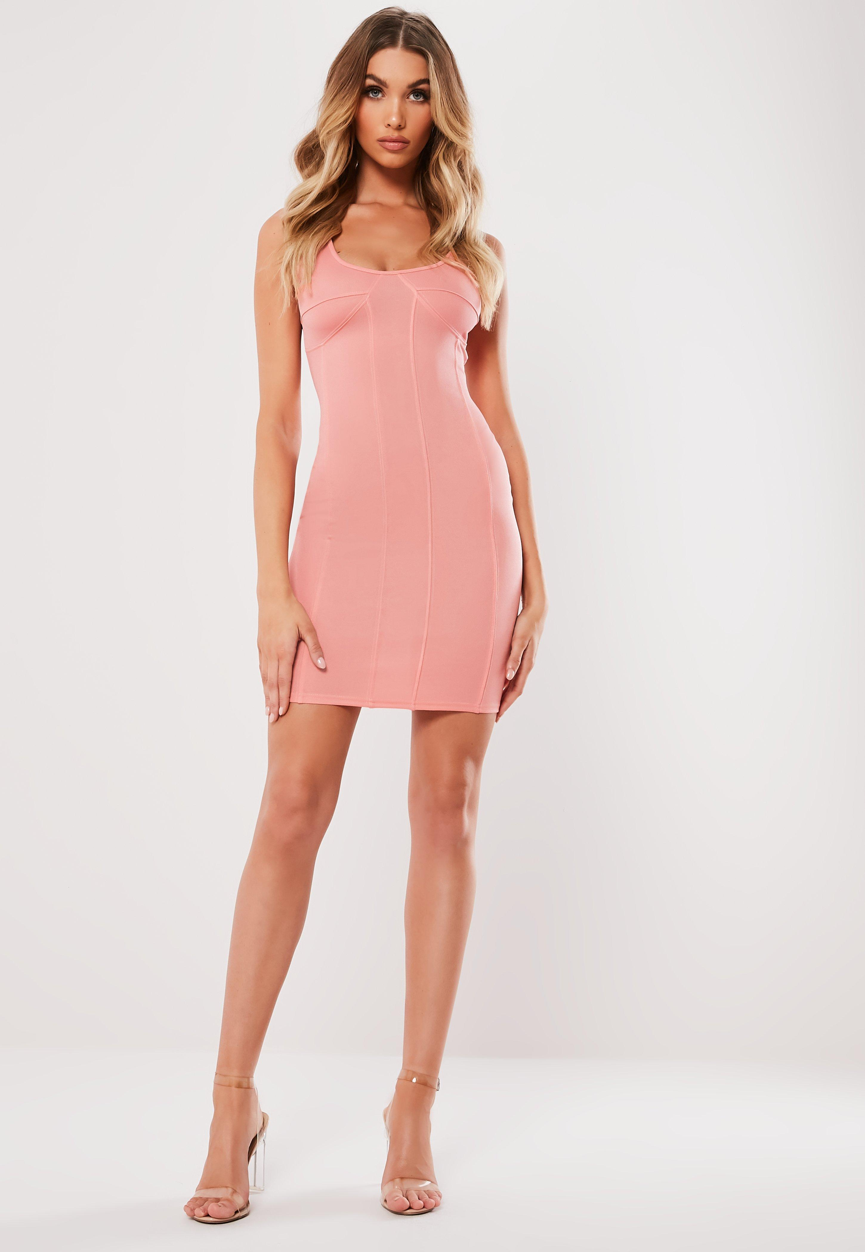 Lyst - Missguided Pink Sleeveless Bustcup Mini Dress in Pink 419002b0e